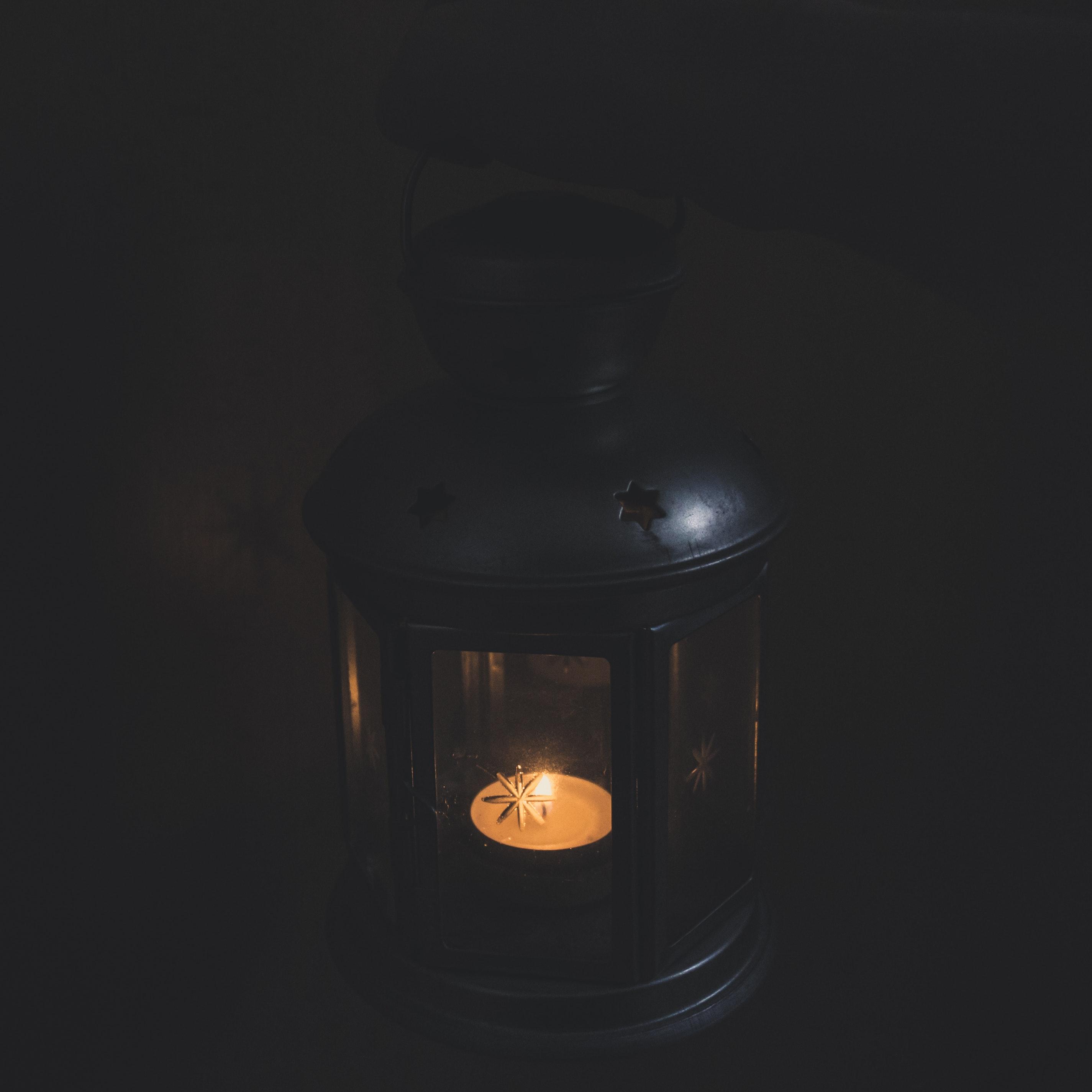 Black Candle Lantern, Lamp, Illuminated, Luminescence, Hot, HQ Photo