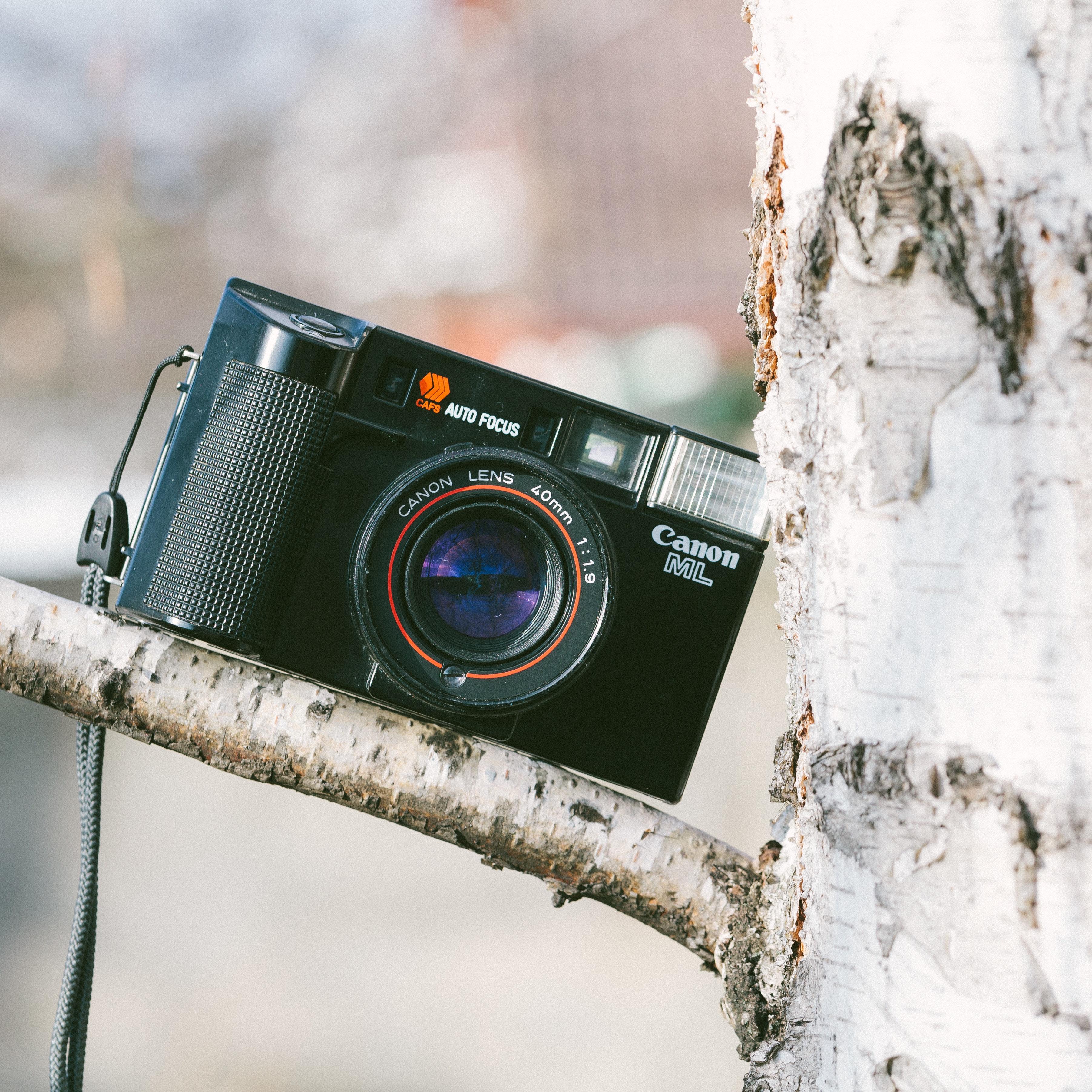 Black canon camera photo