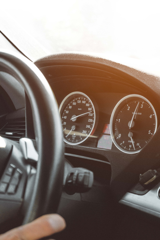 Black Car Instrument Cluster Panel, Speedometer, Speed, Person, Modern, HQ Photo