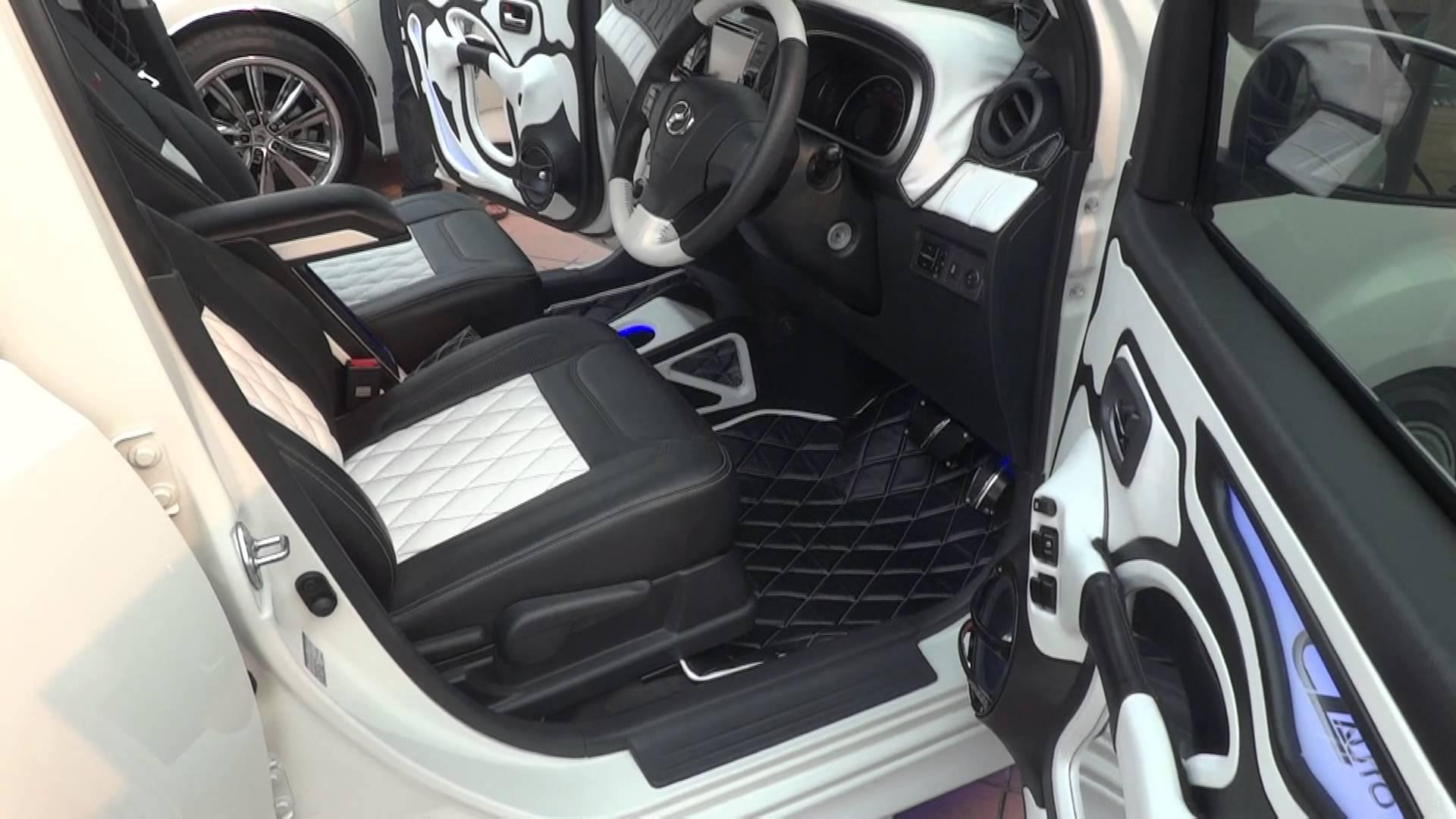 Black and White Car Interior - YouTube