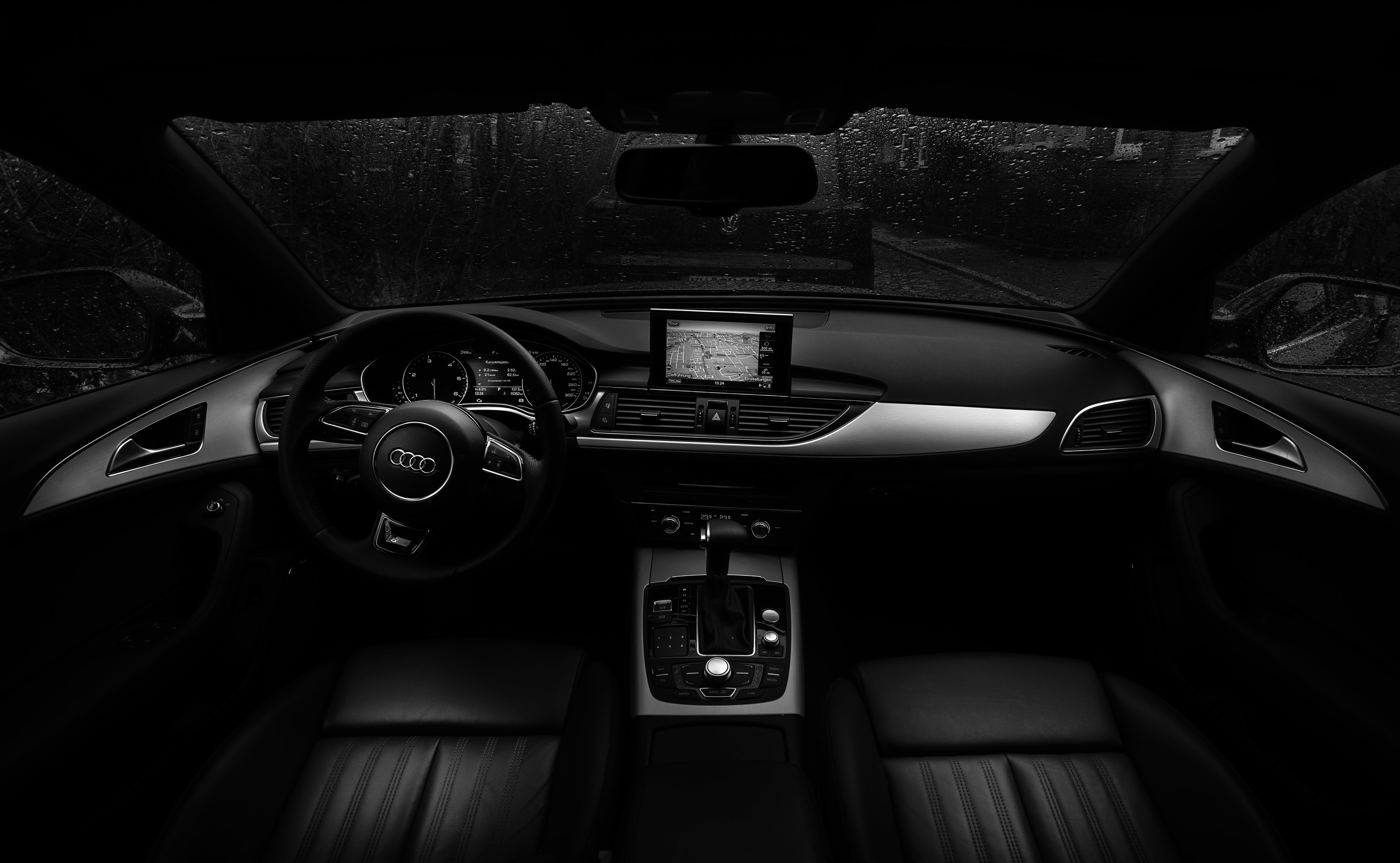 Black Car Interior, Audi, Black, Car, Gear, HQ Photo