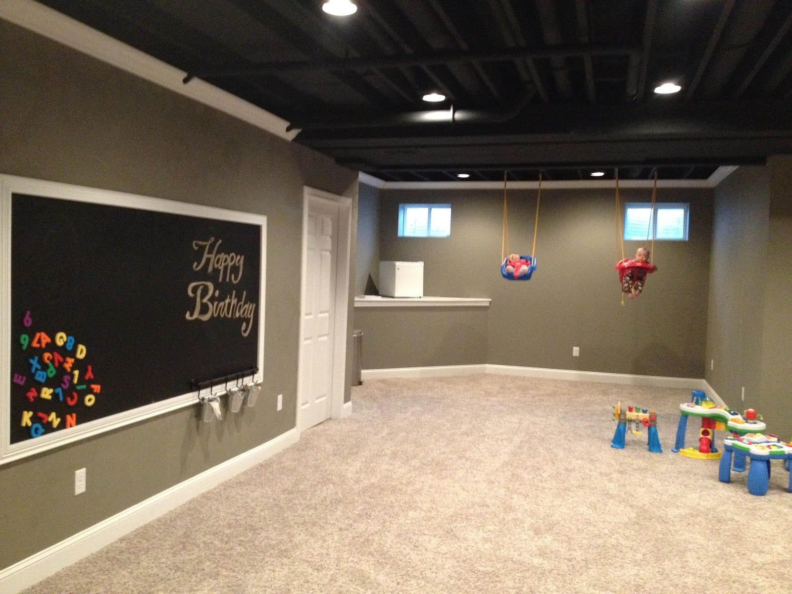 basement: love the color of the walls and the trim! … | Pinteres…