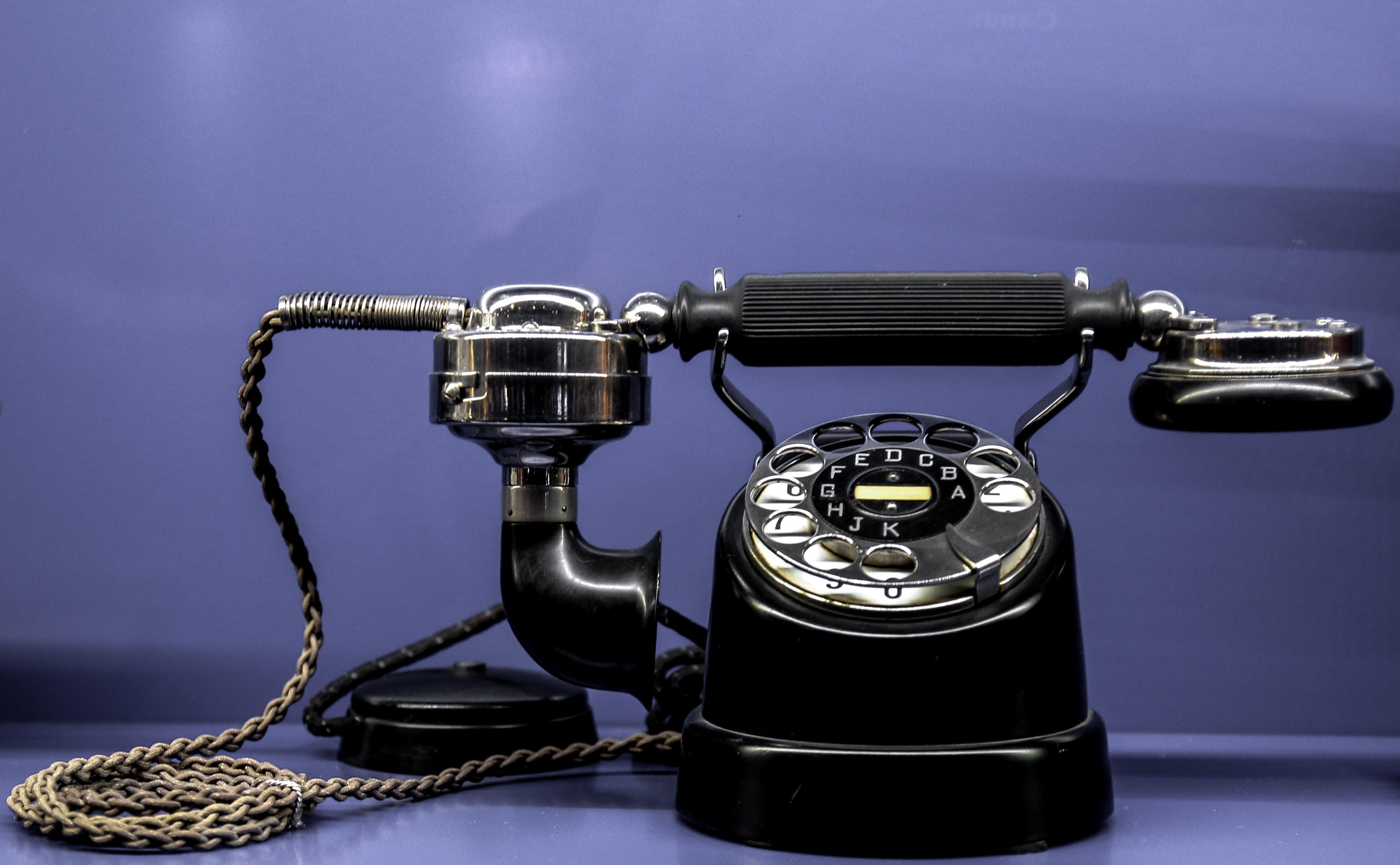 Black classic telephone photo