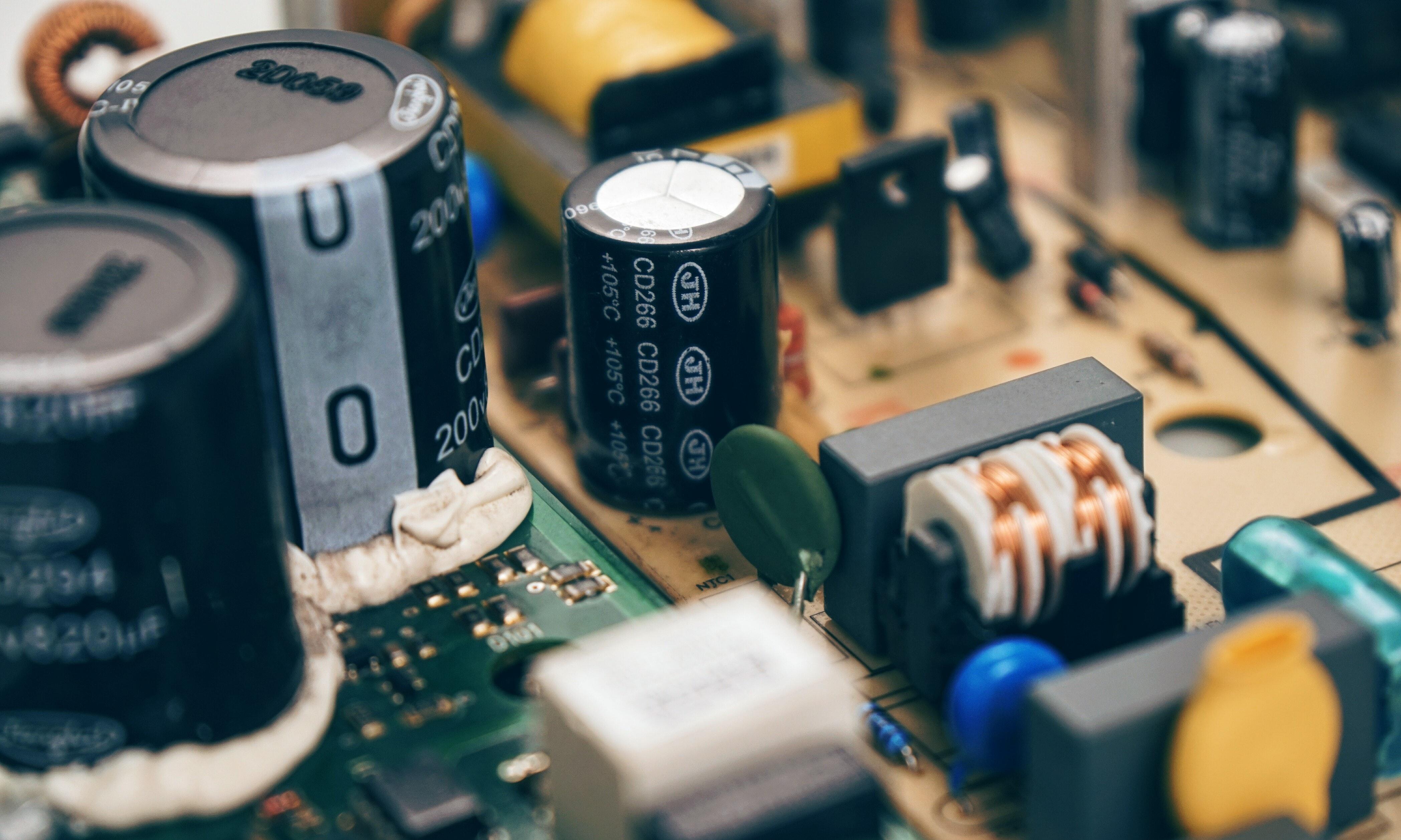 Black Computer Compenent, Blur, Electronics, Technology, Power, HQ Photo