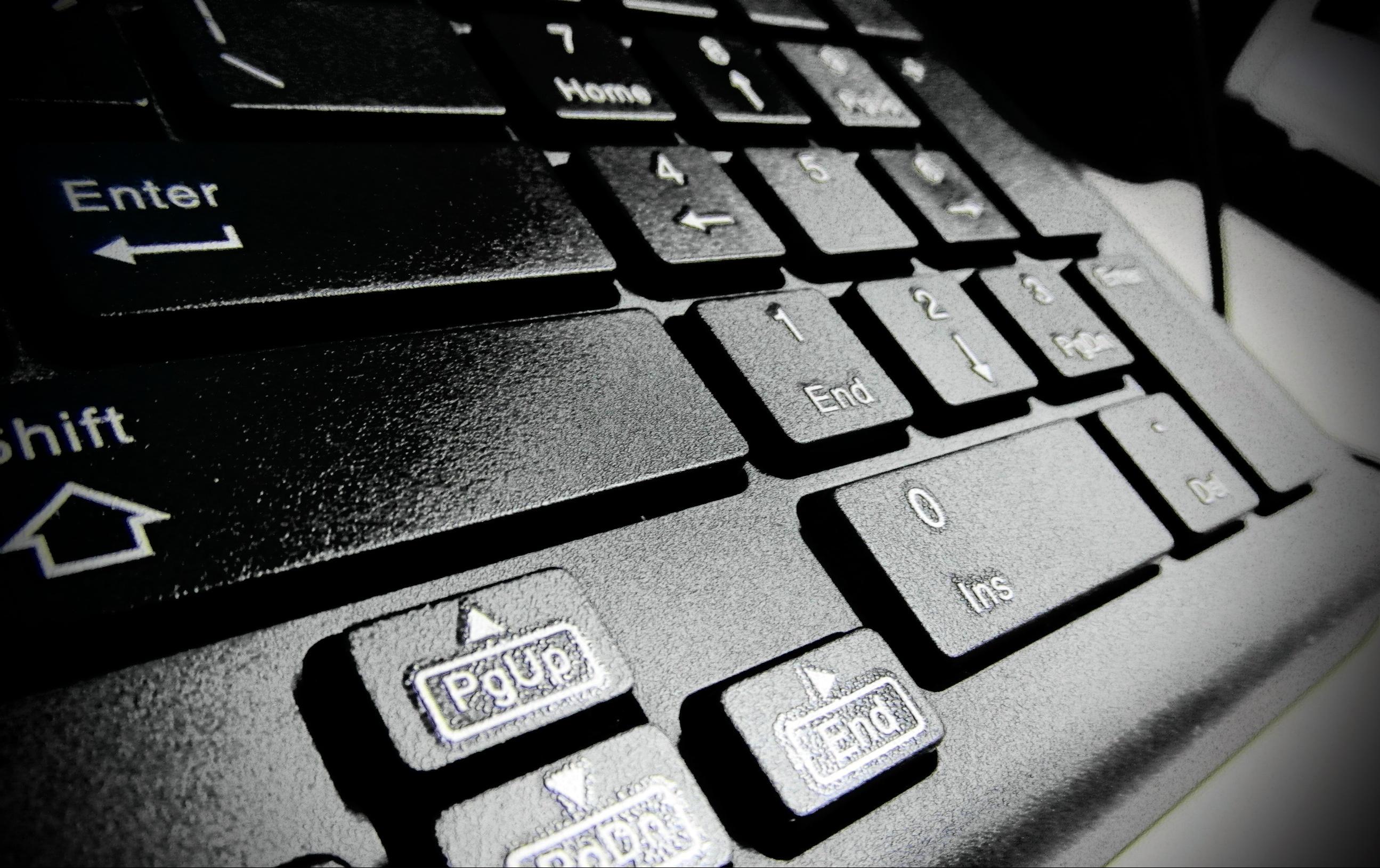 Free photo: Black Computer Keyboard - Mouse, Macro, Laptop
