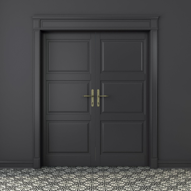 Black door photo