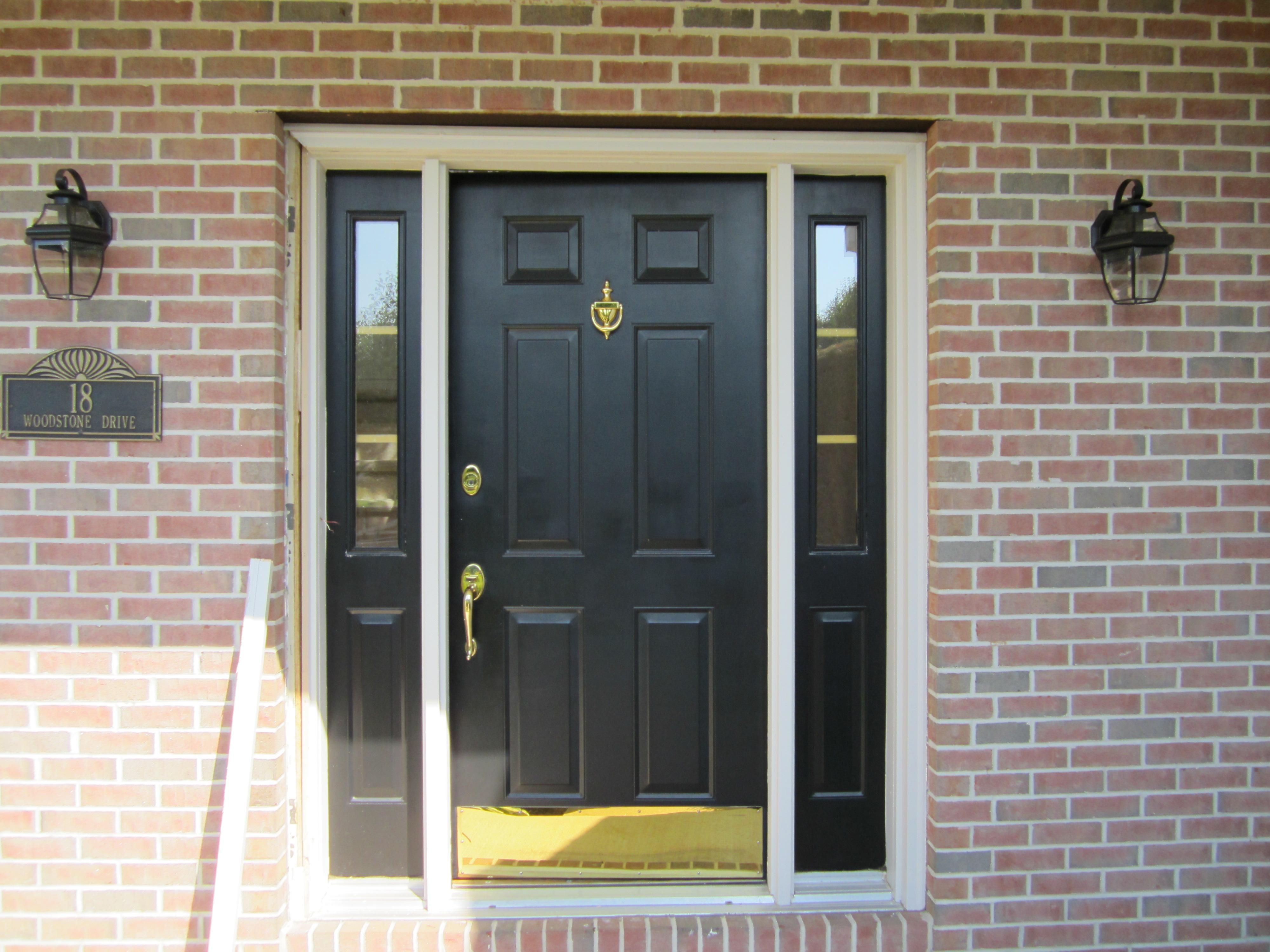 Black Door with Sidelights | Cortazzo Construction
