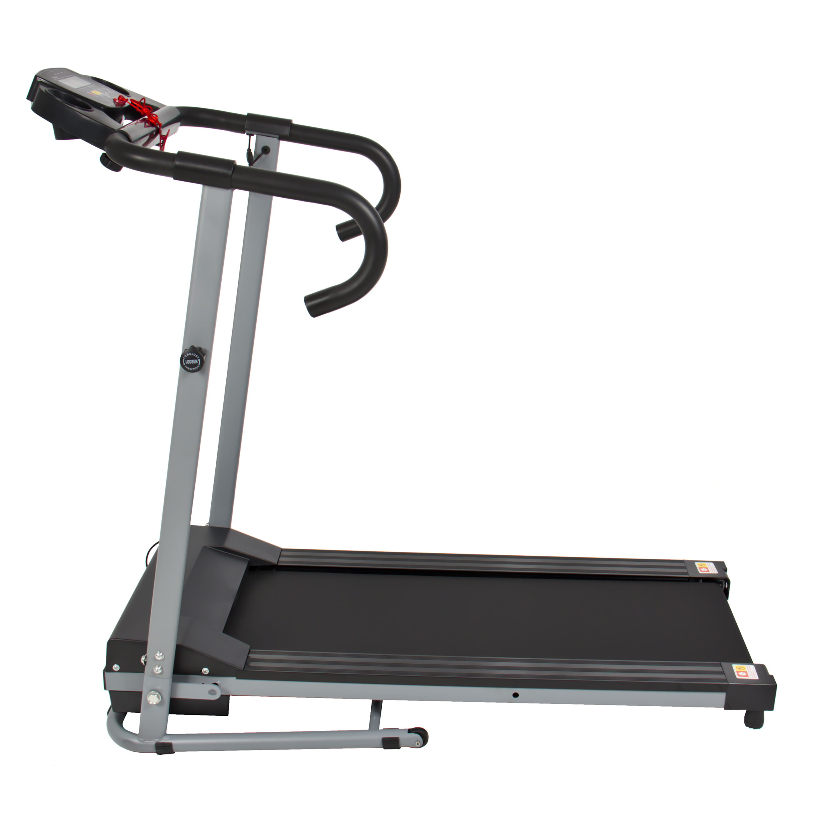 Black 500W Portable Folding Electric Motorized Treadmill Running ...