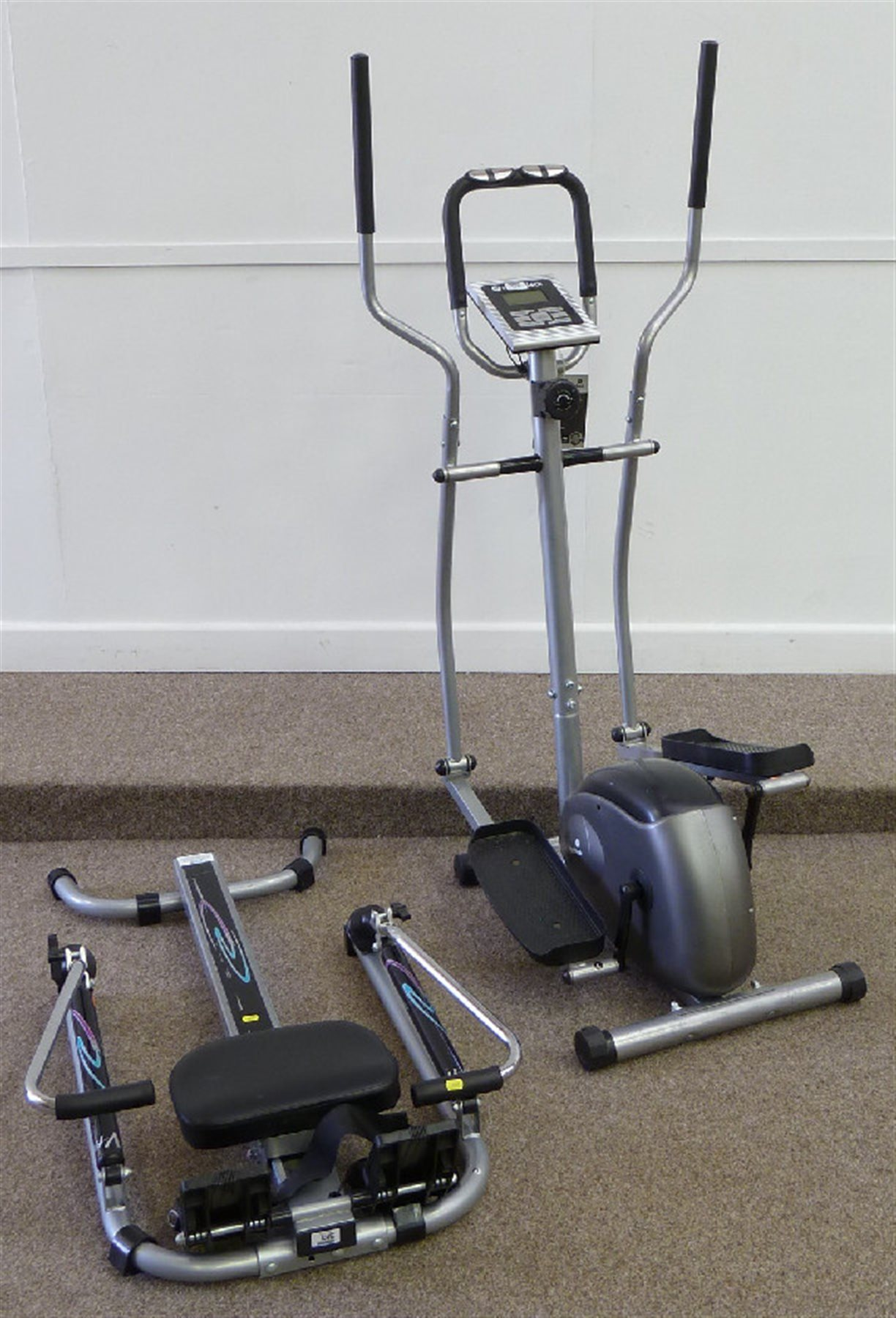 Roger Black exercise bike and a rowing machine - Antique & Home ...