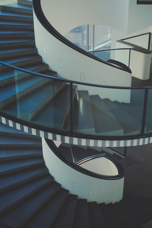 Black frame stairs photo