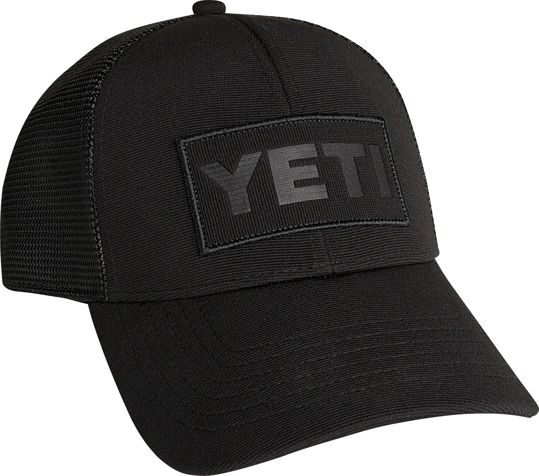 YETI Black on Black Patch Trucker Cap | DICK'S Sporting Goods