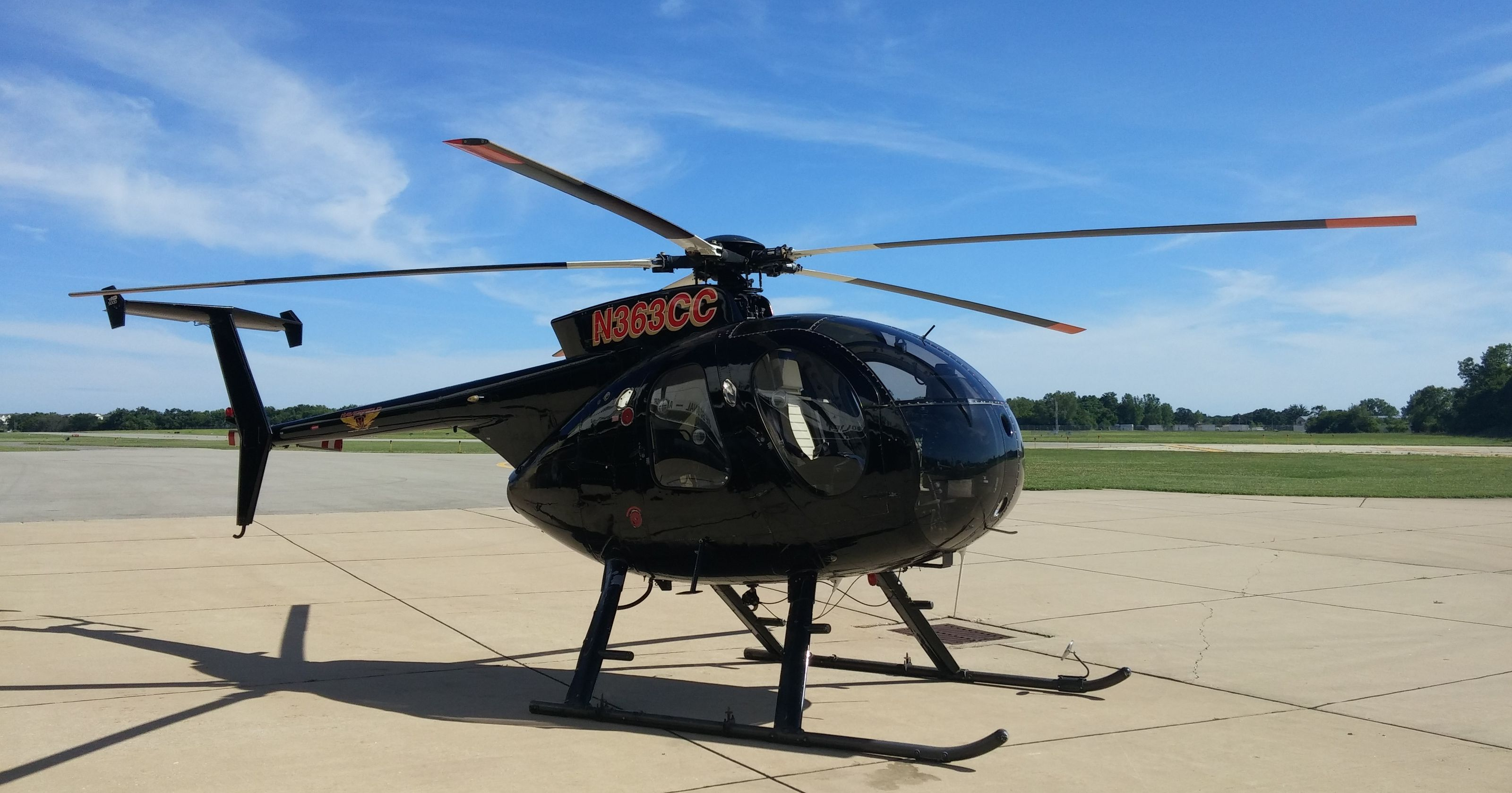 Why will a black helicopter be hovering over parts of central PA?