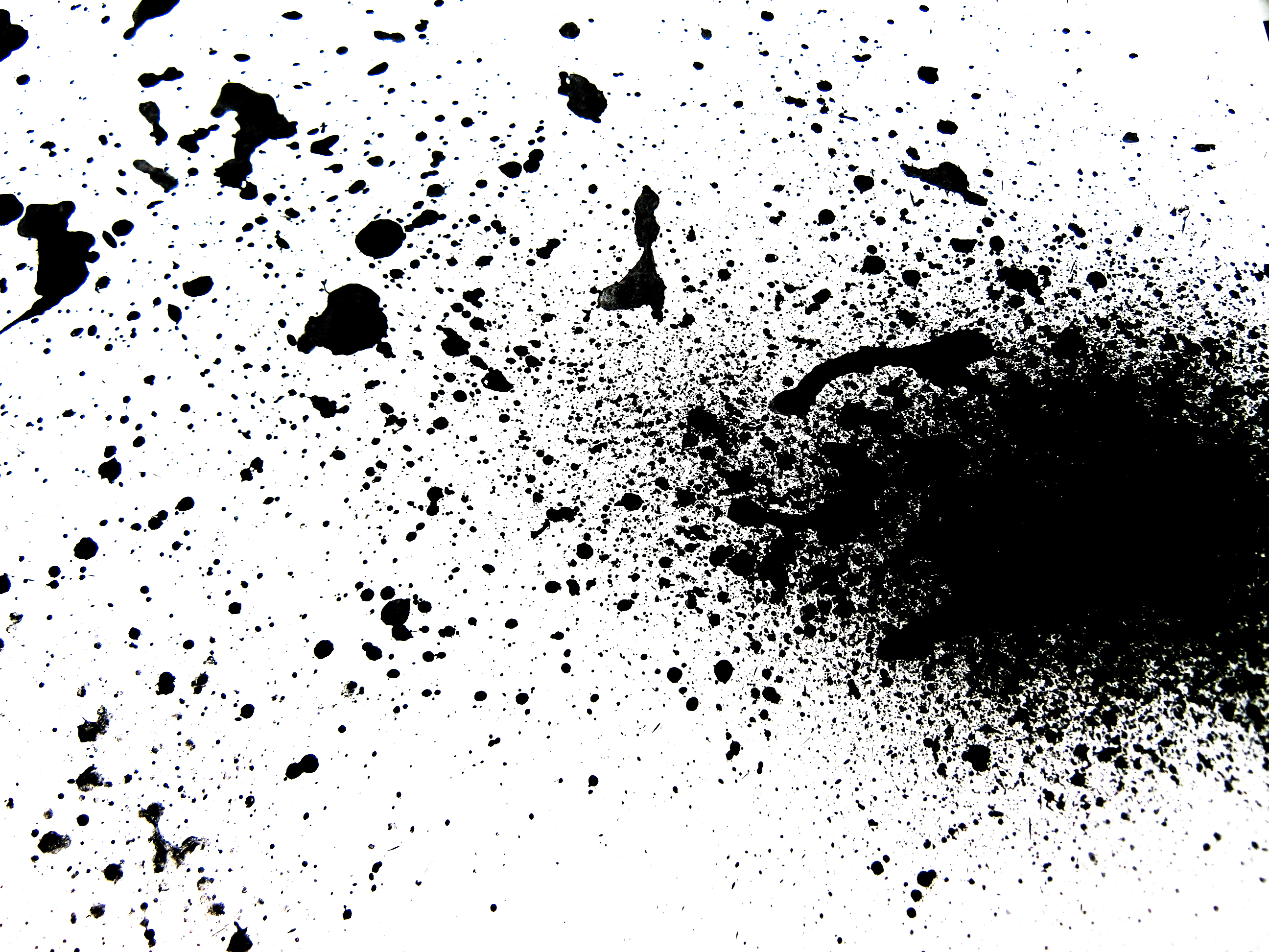Black ink splatter, Paint, Splash, Spatter, Messy, HQ Photo