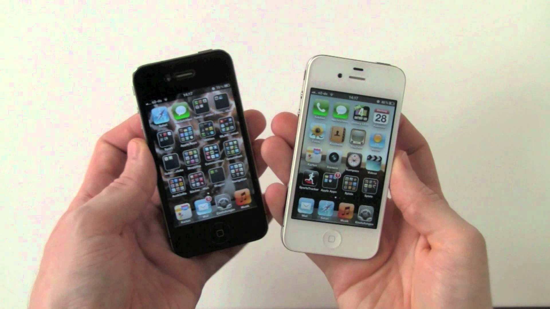 iPhone 4 black vs white comparison - YouTube