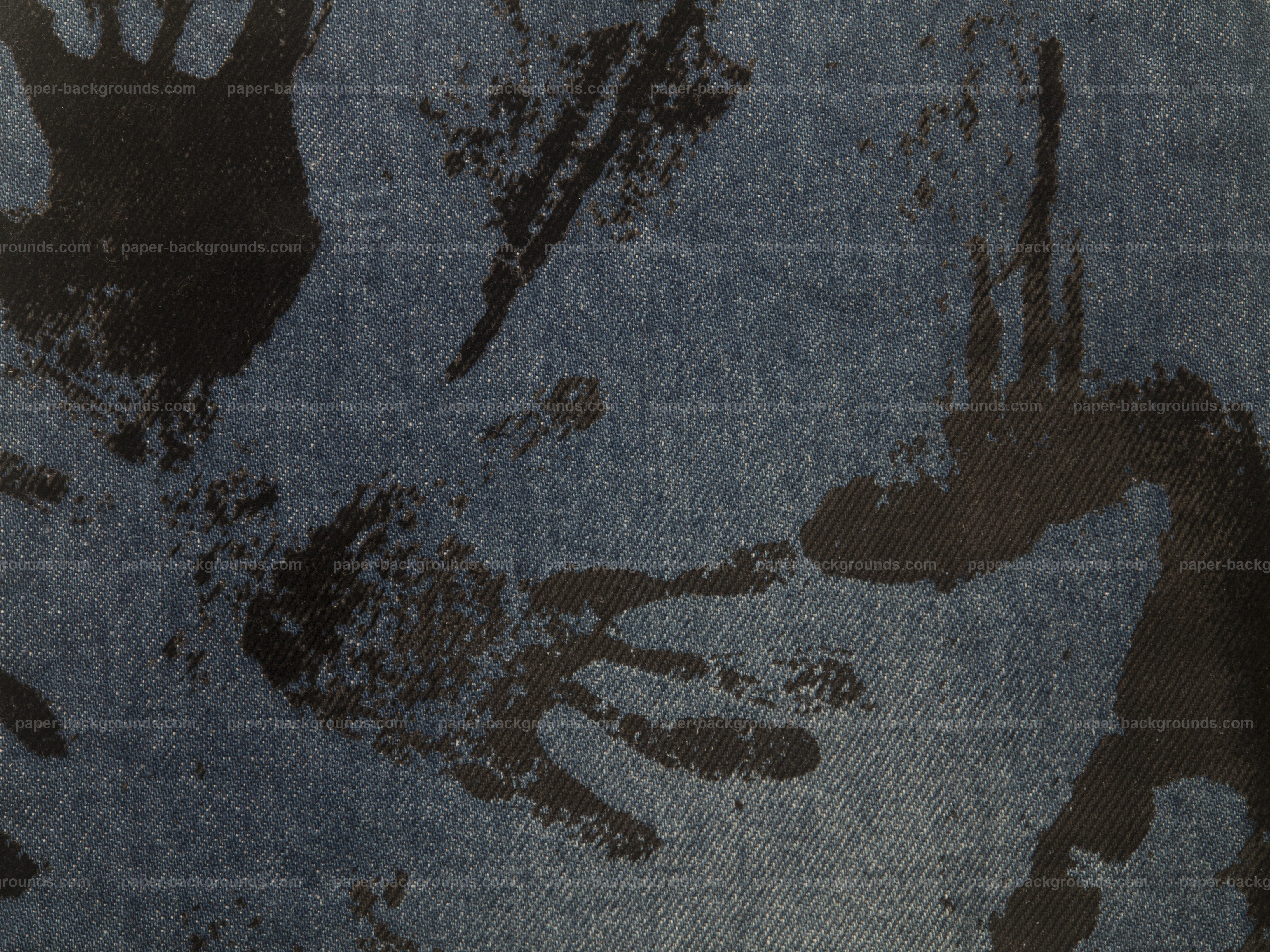 Paper Backgrounds | Blue Jeans Texture With Black Paint Traces
