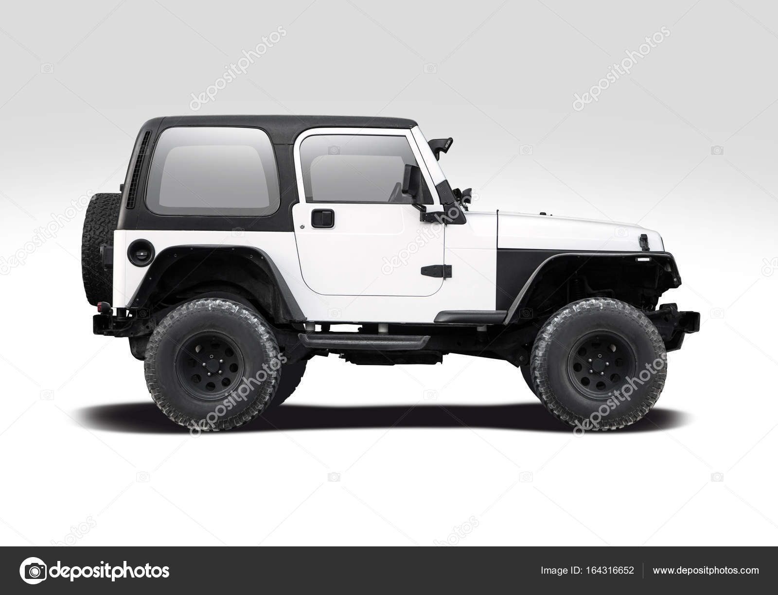 Black jeep isolated photo