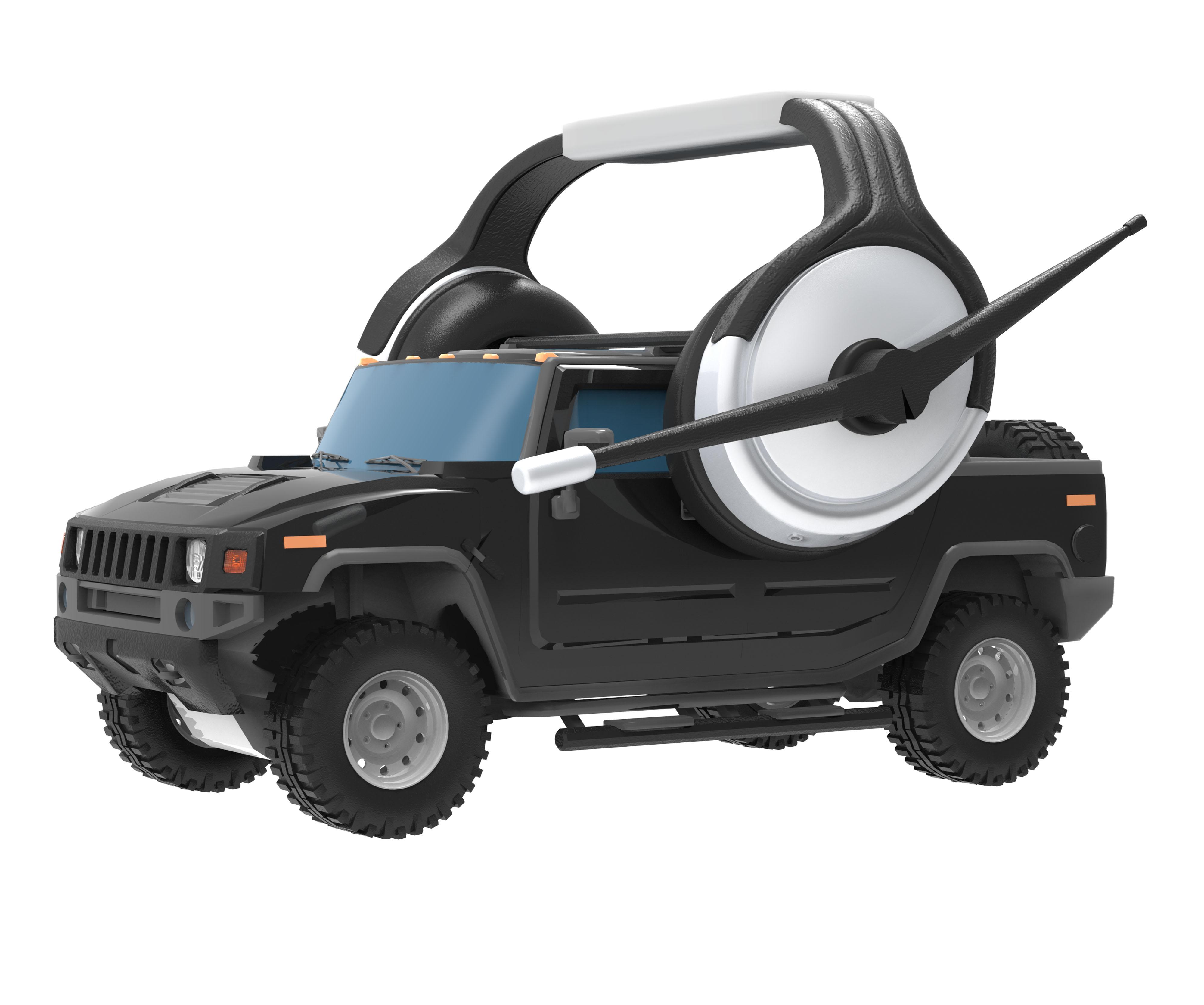Black jeep isolated photo