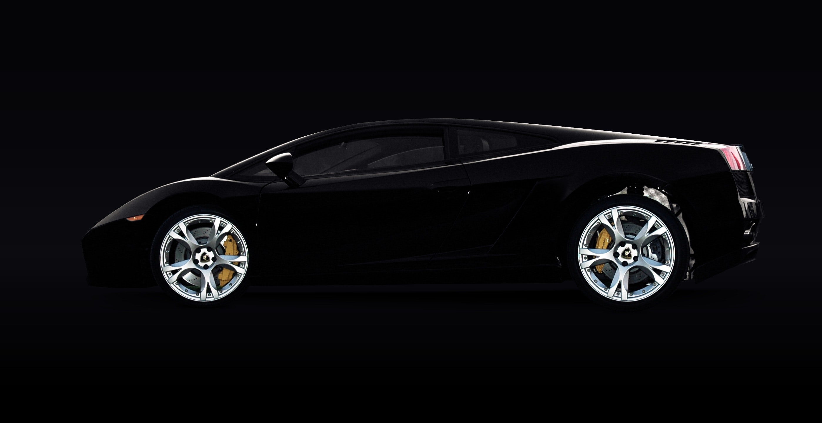 Black Lamborghini Murcielago, Racing car, Luxury, Rims, Side view, HQ Photo