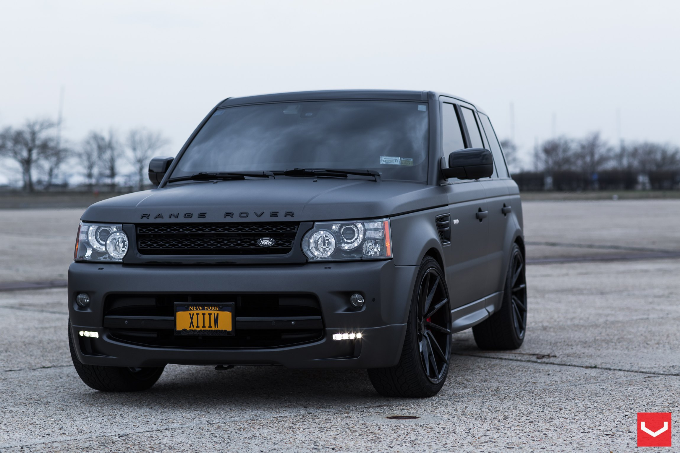 Black on Black: Matte Land Rover Range Rover Sport with Custom Rims ...