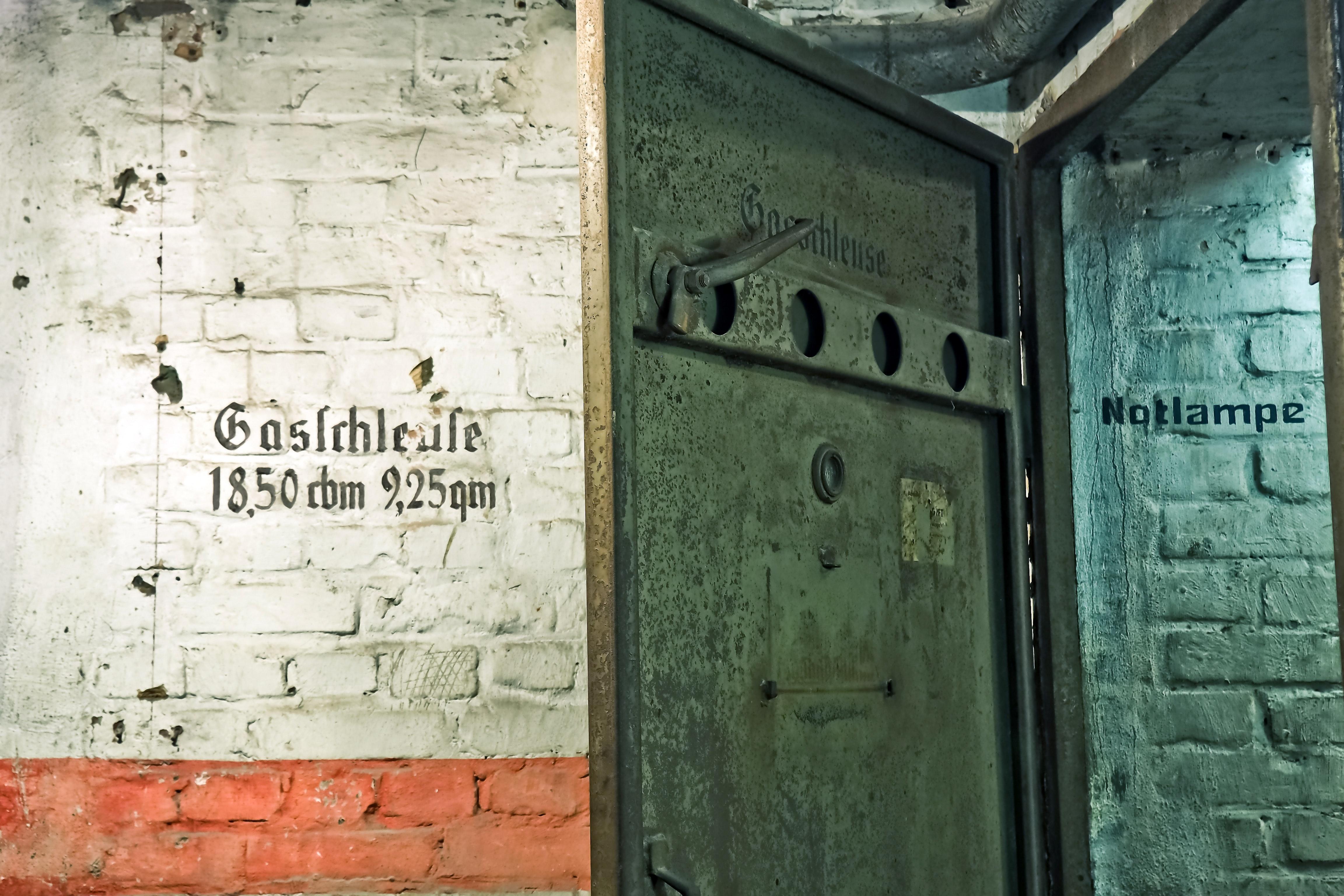 Black metal door open photo