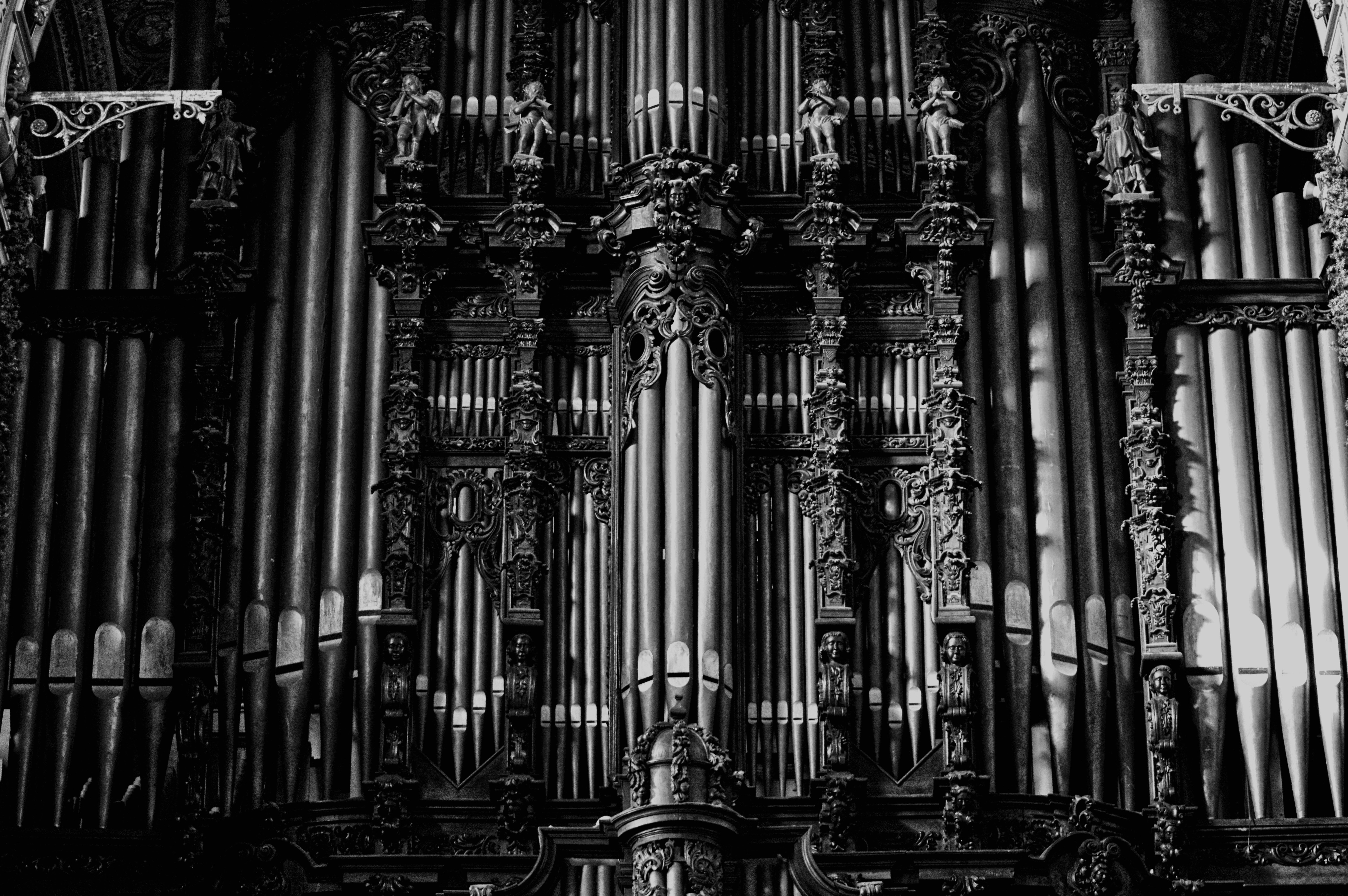 Grayscale Cathedral Photograph