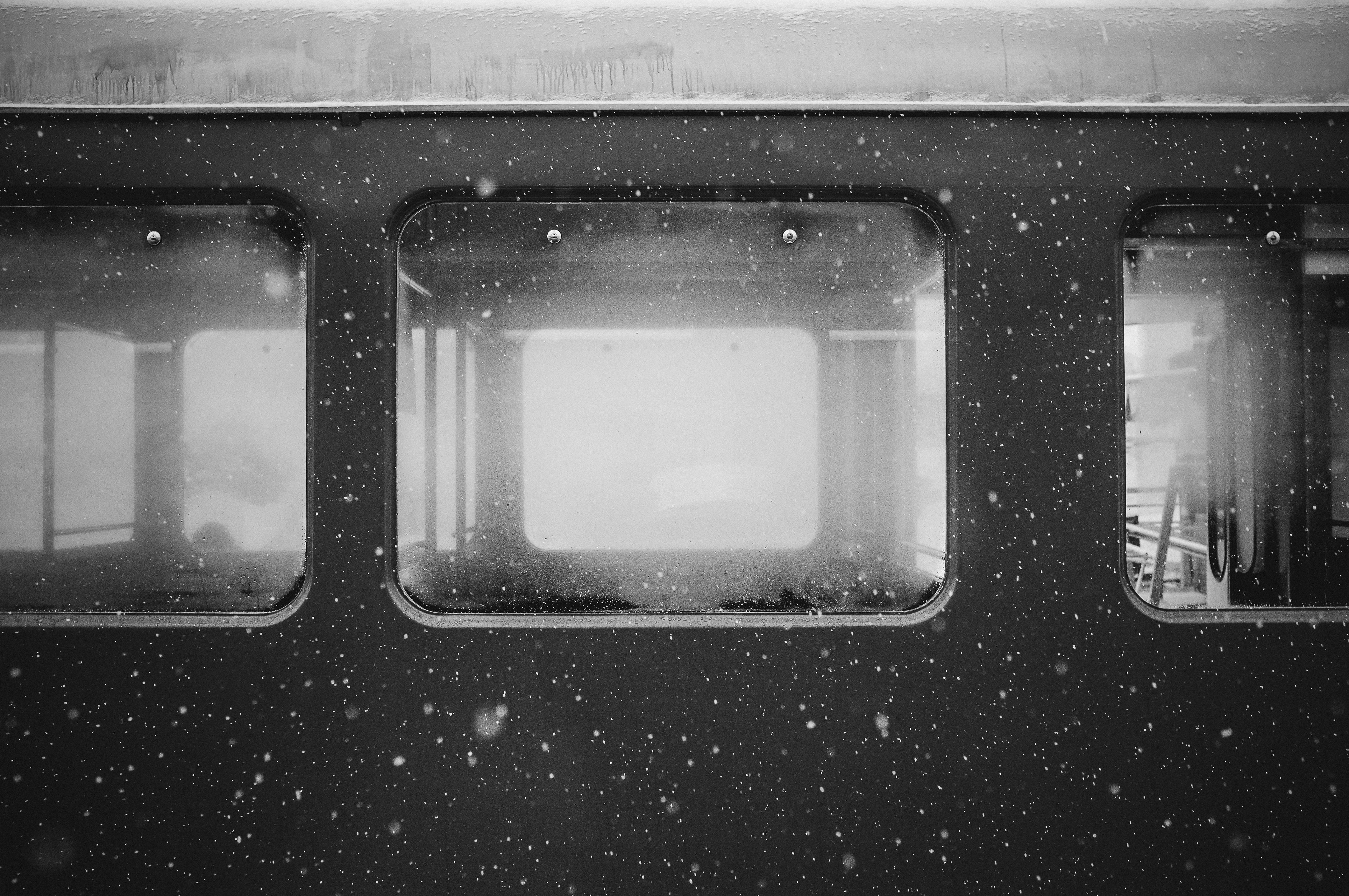 Black n White, Journey, Route, Silver, Train, HQ Photo