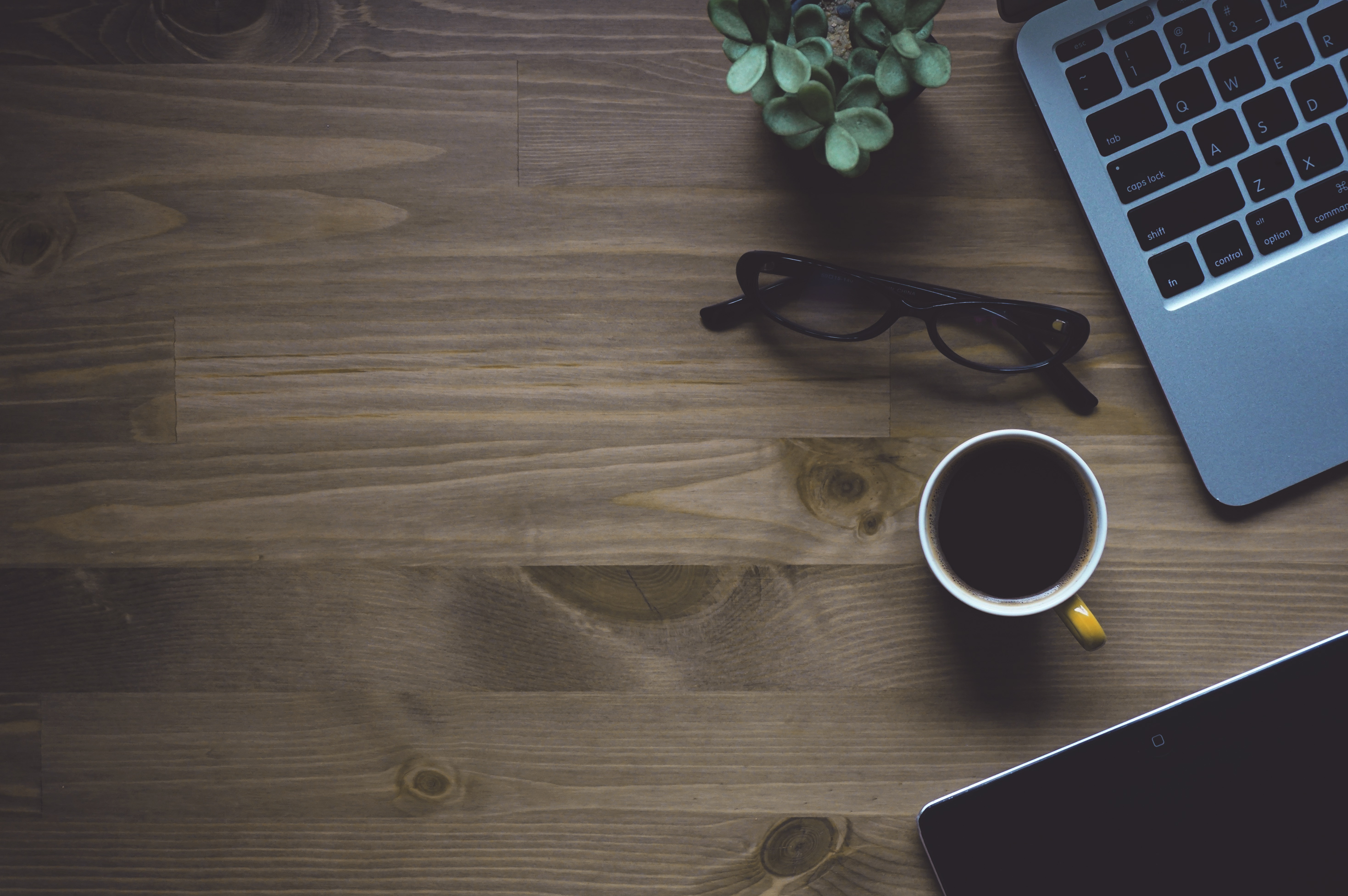 Free Images : laptop, desk, coffee, light, wood, technology, white ...