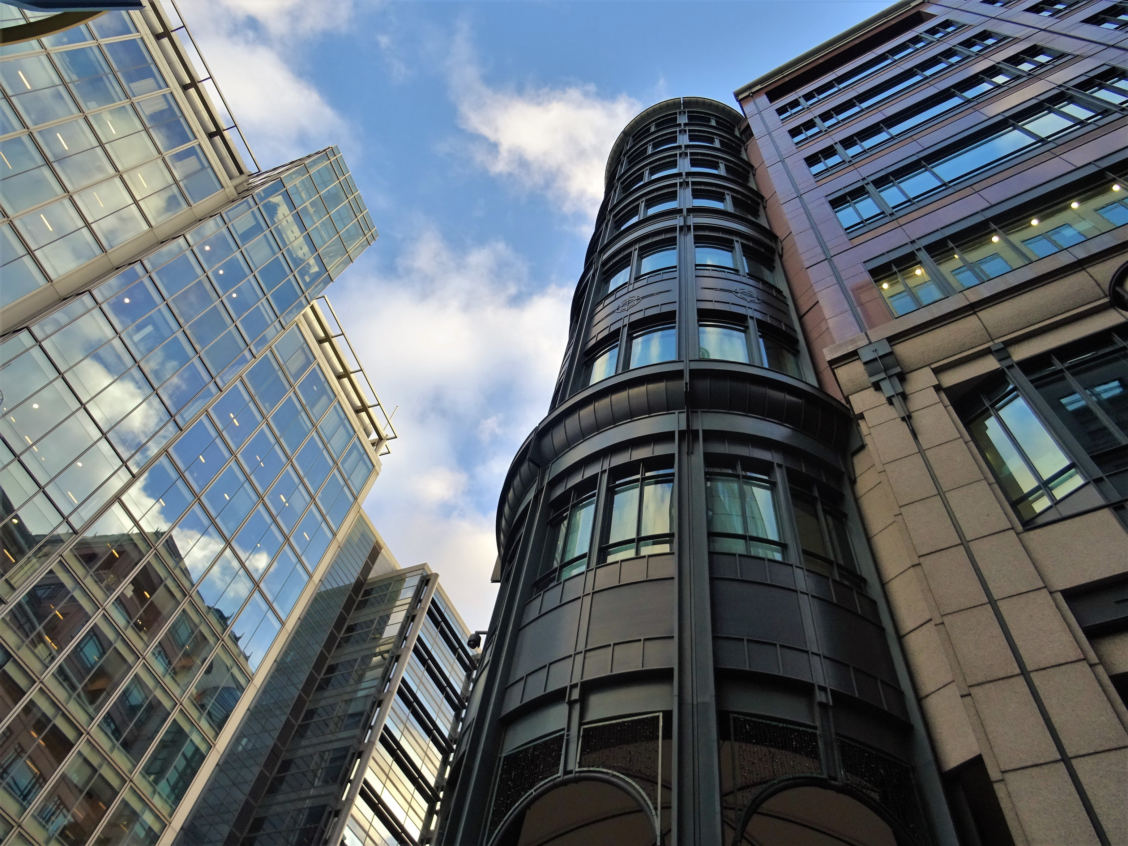 Black painted highrise building photo