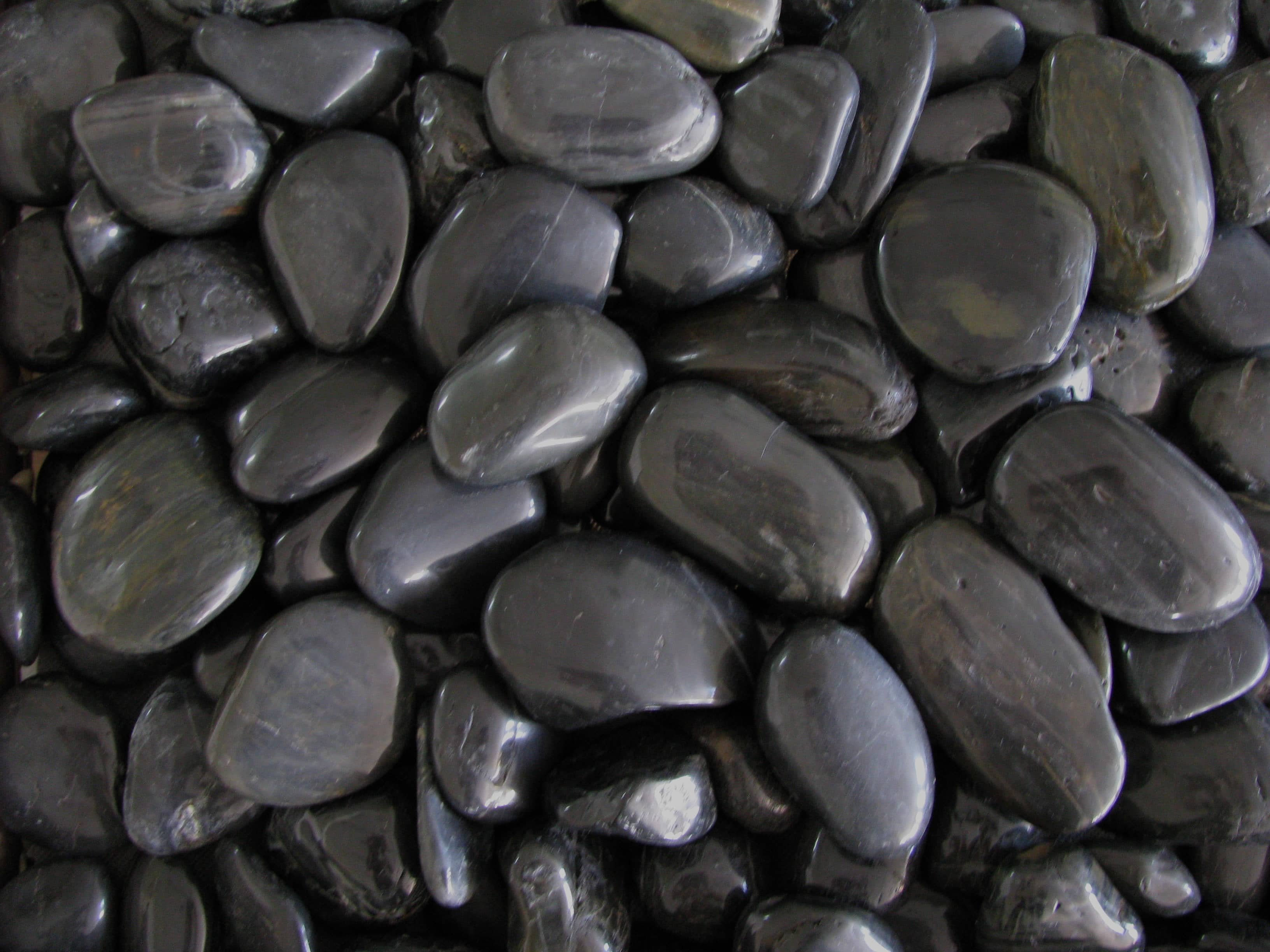 Free Photo Black Pebble Stones