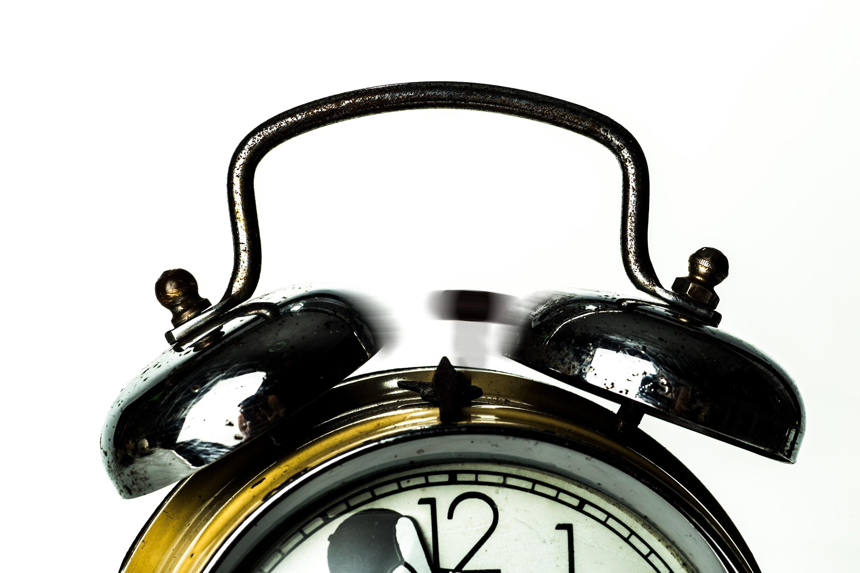 Black Ring Bell Alarm Clock, Alarm, Numbers, Wake, Vintage, HQ Photo