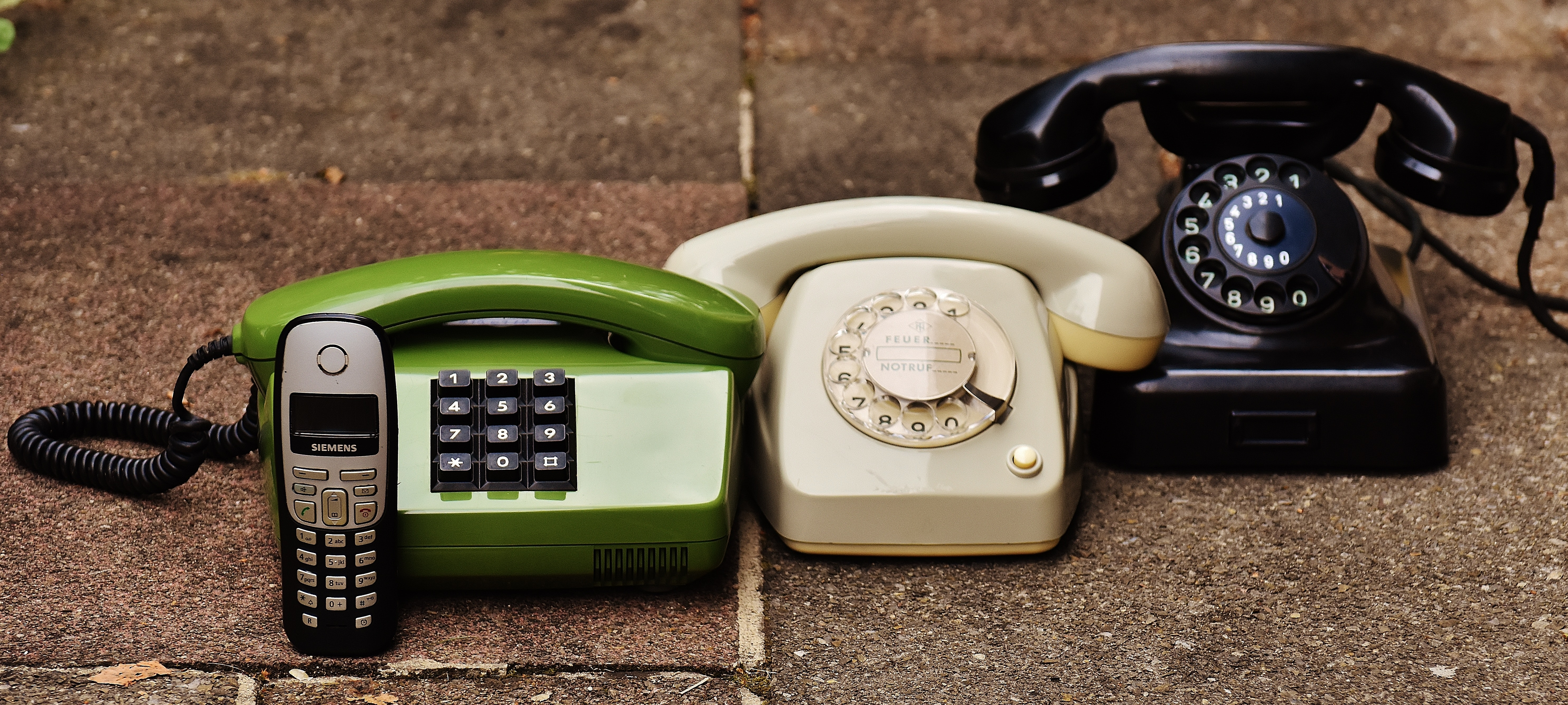 Black Rotary Phone, Antique, Obsolete, Telecommunication, Technology, HQ Photo