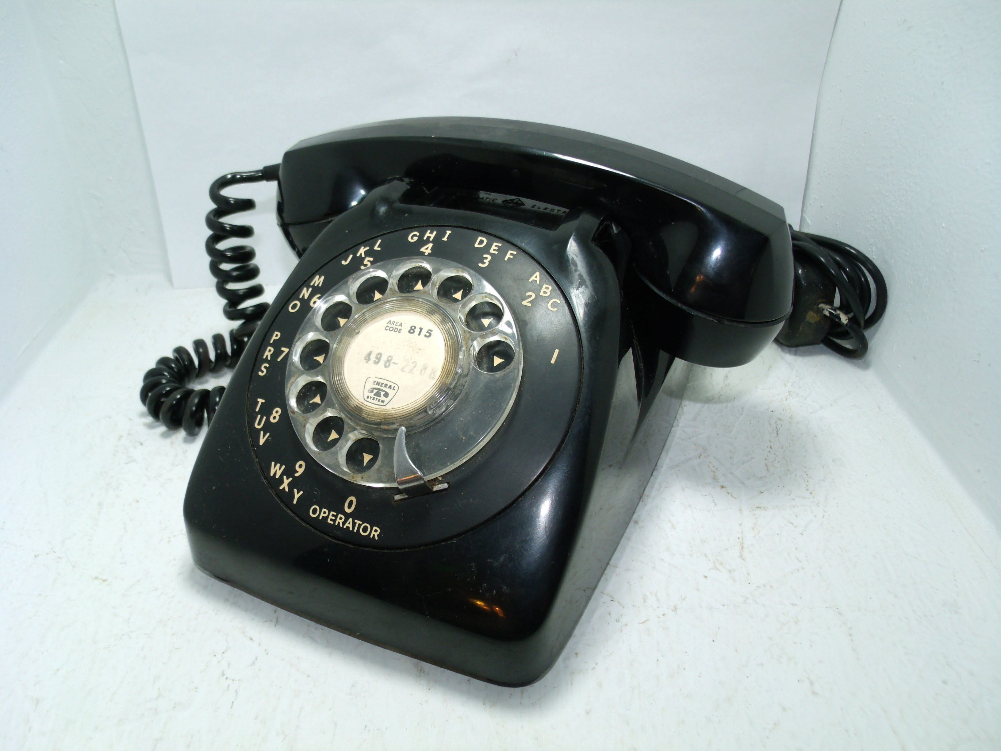 Vintage Automatic Electric Black Rotary Dial Telephone Phone ...