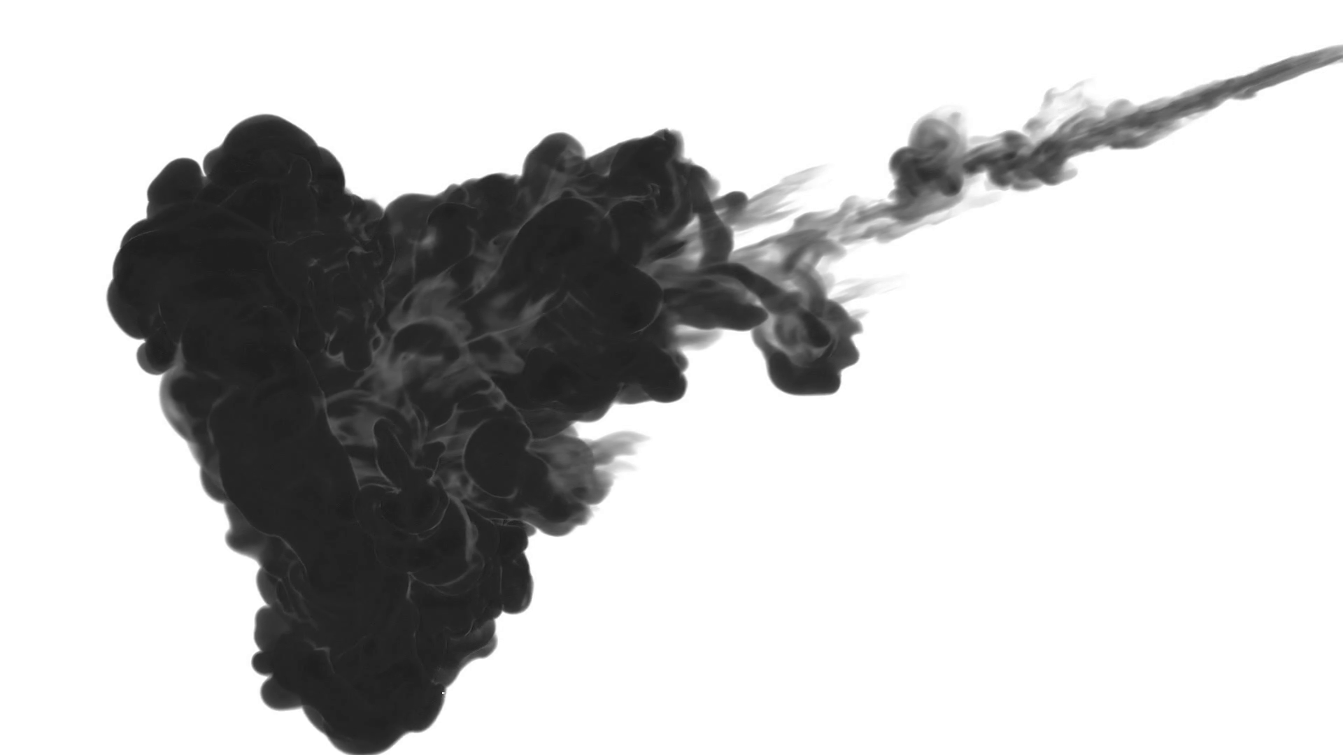 INK BACKGROUND FOR COMPOSITING. BLACK SMOKE or INK IN WATER SERIES ...