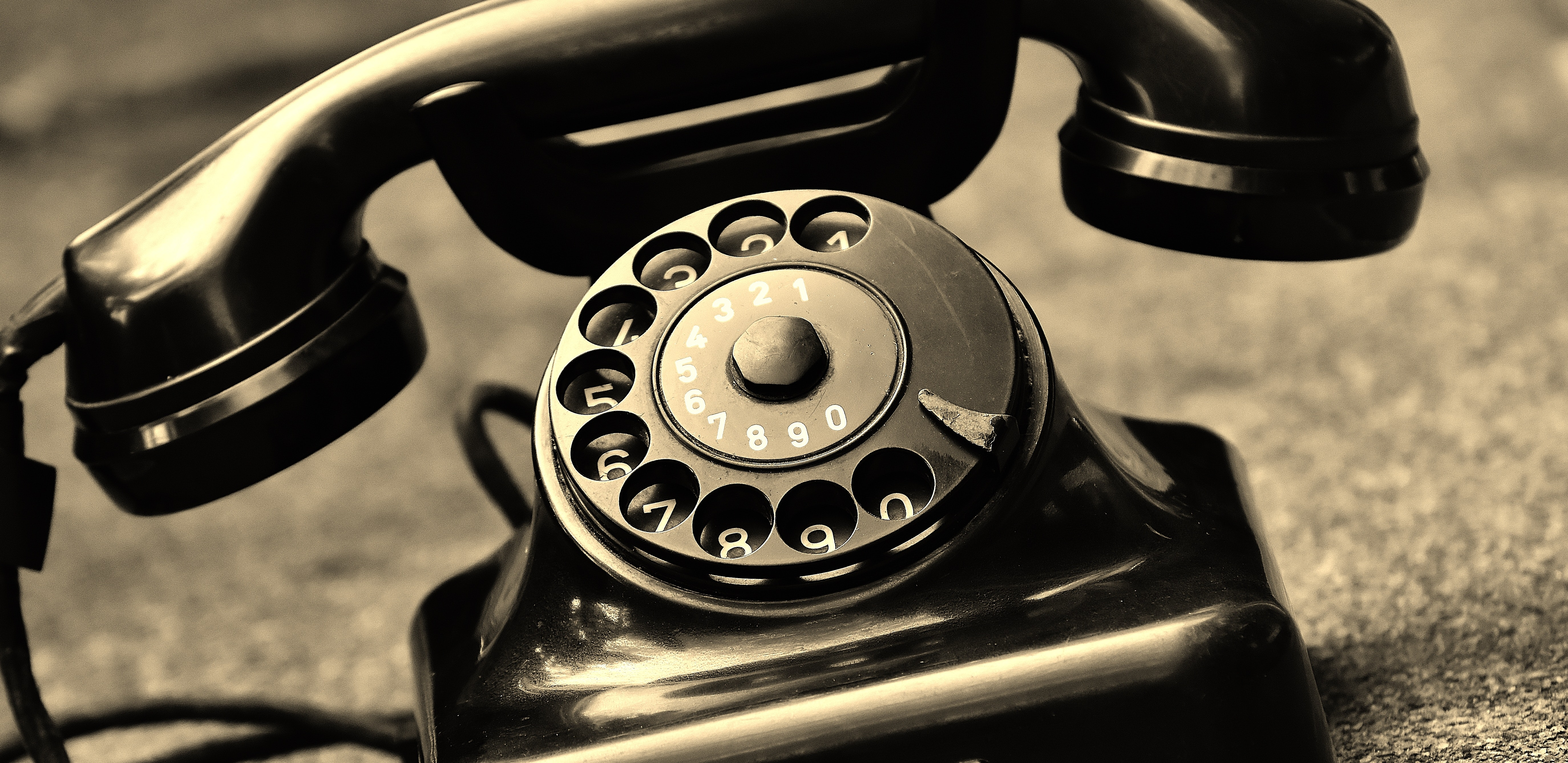 Black Vintage Telephone, Antique, Black-and-white, Classic, Phone, HQ Photo