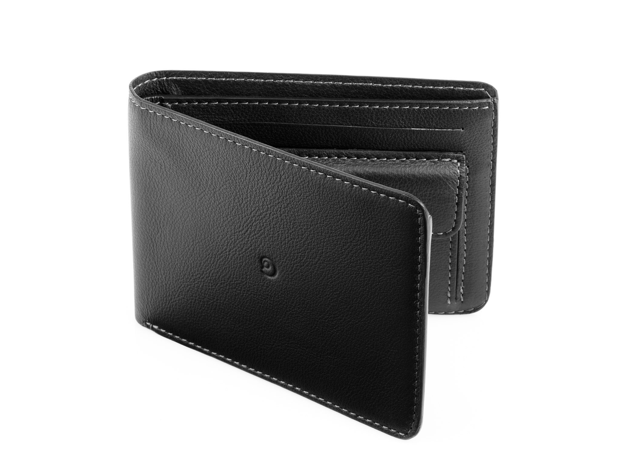 Leather coin wallet black by Danny P.