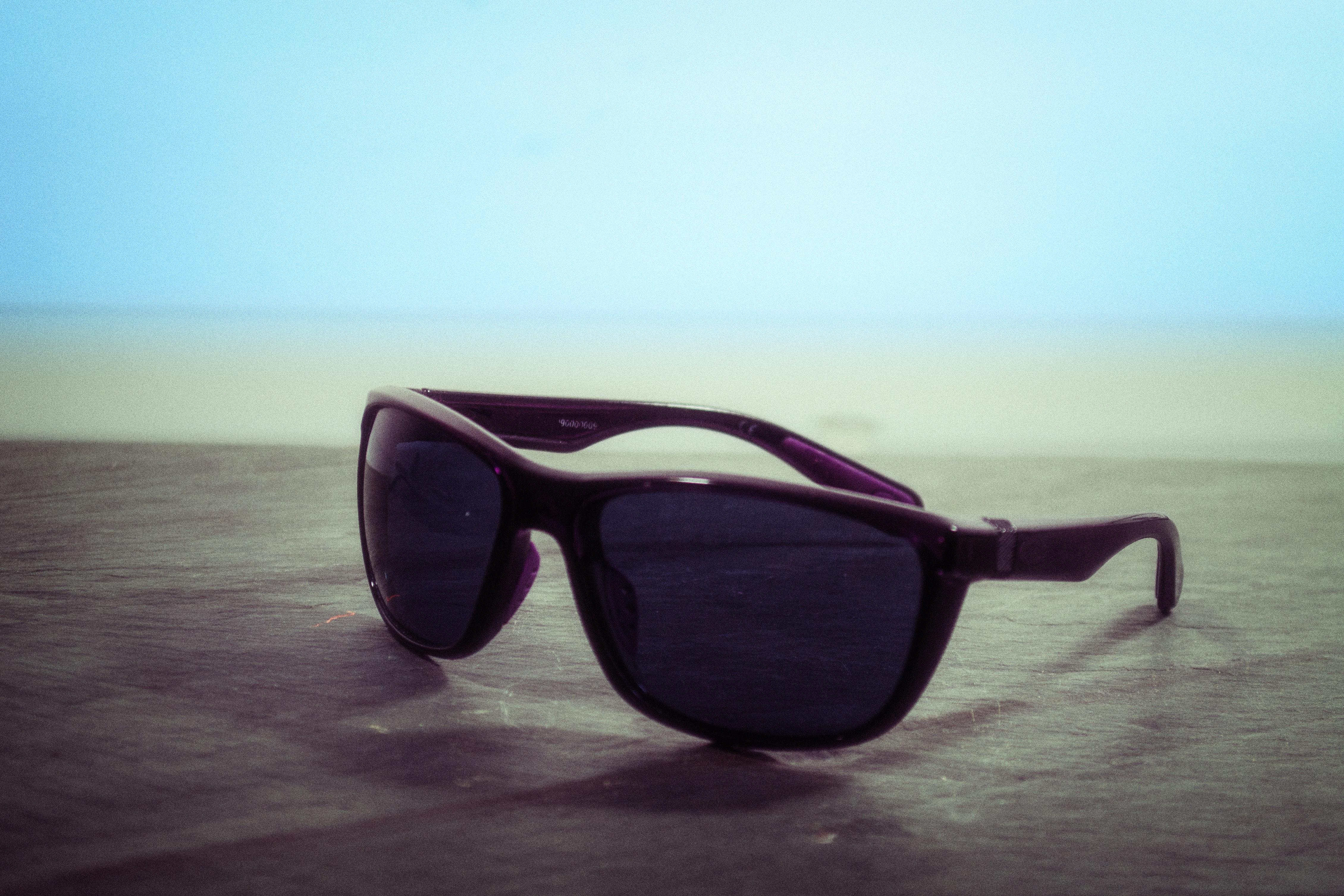 Black wayfarer sunglasses photo