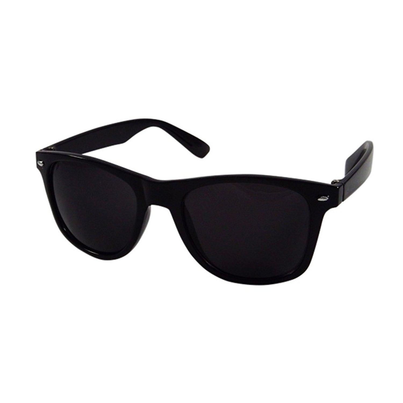 Silver Kartz Unisex Wayfarer Sunglass (WY001, Black, Free Size ...