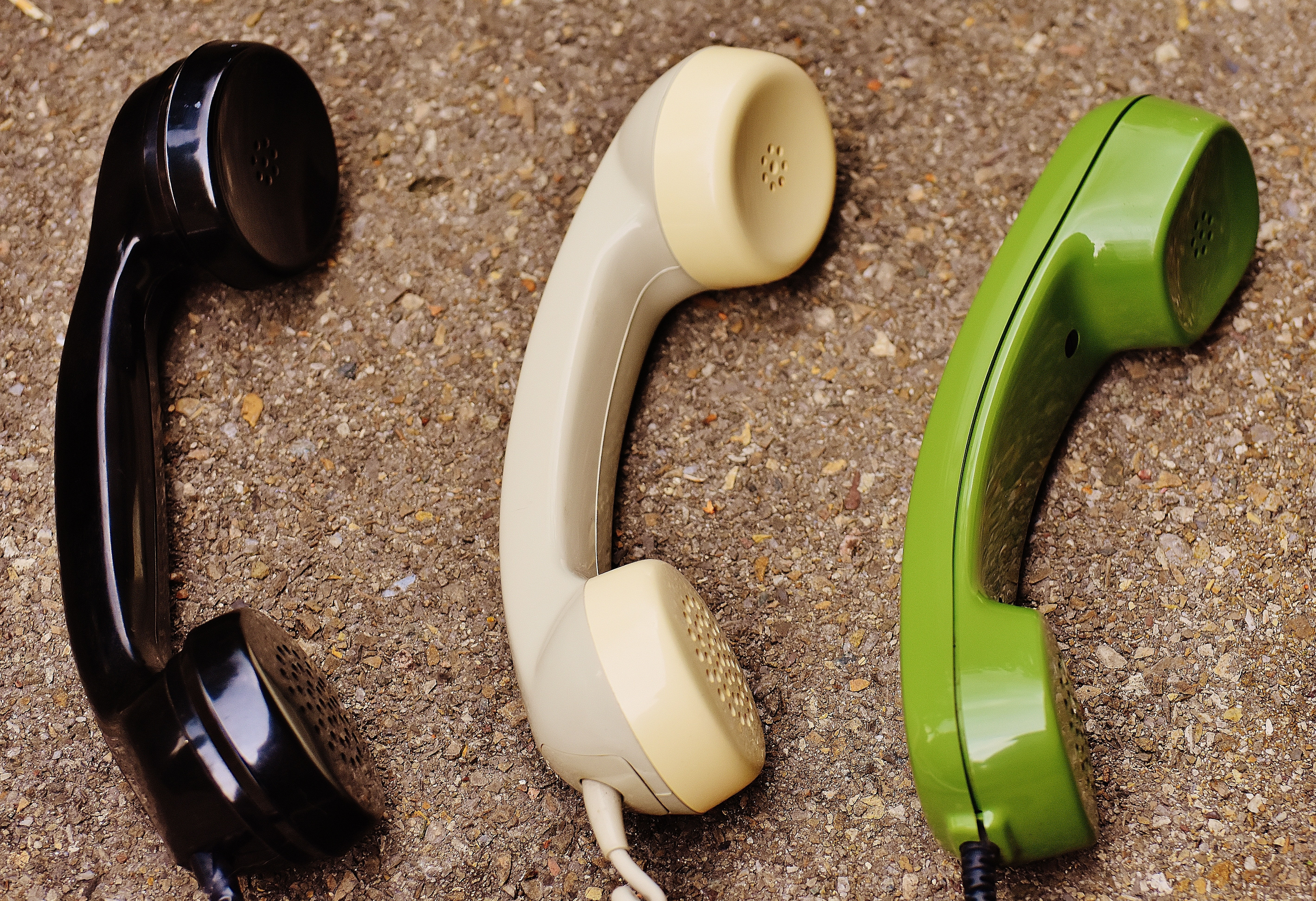 Black White and Green  Phones, Antique, Leisure, Technology, Sound, HQ Photo
