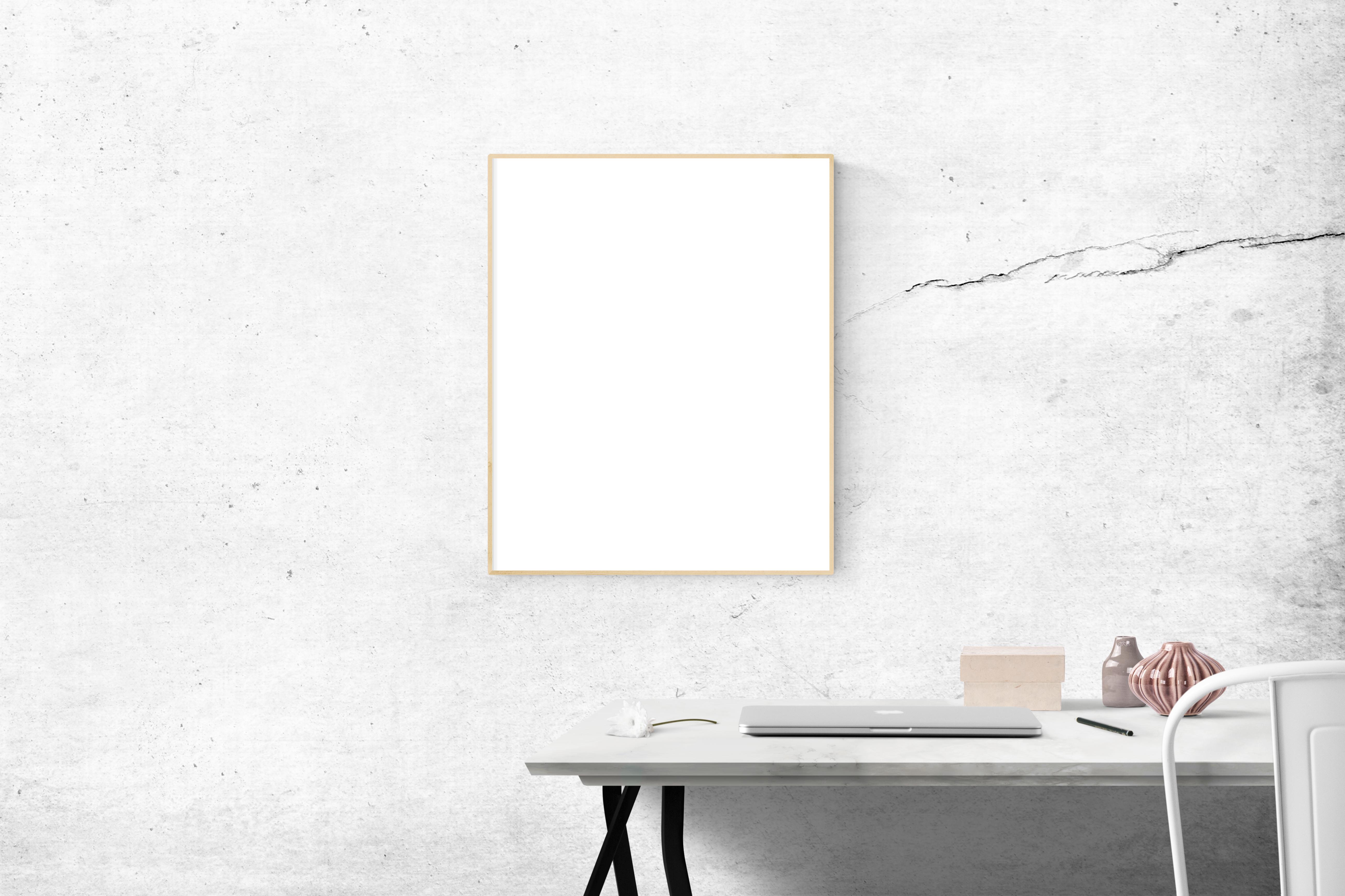 Blank Frame Above Table, Interior design, Vintage, Vase, Table, HQ Photo