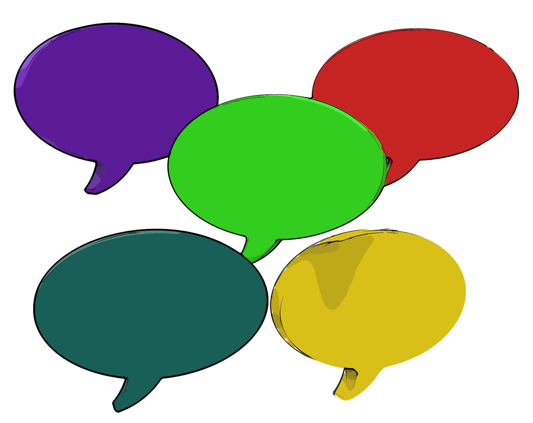 Blank Speech Balloon Shows Copy space For Thought Chat Or Idea, Word, Space, Thought, Think, HQ Photo