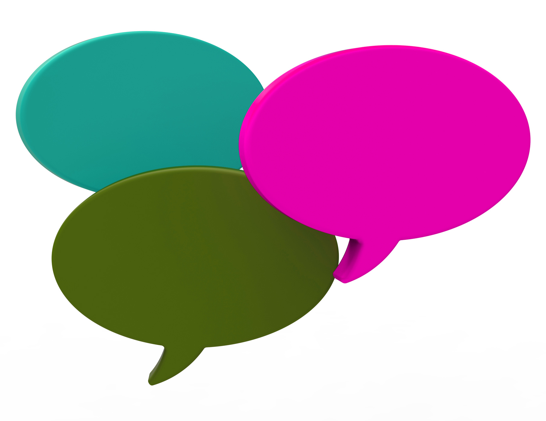 Blank speech balloon shows copyspace for thought chat or idea photo
