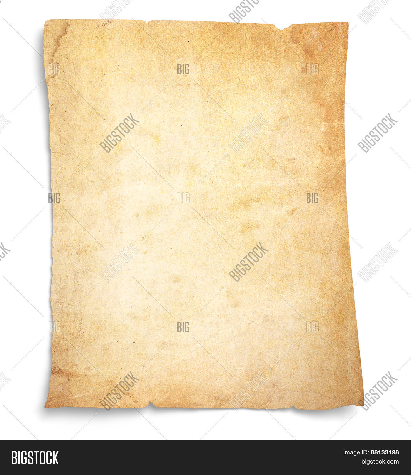 Very Old, Stained Blank Paper Image & Photo | Bigstock