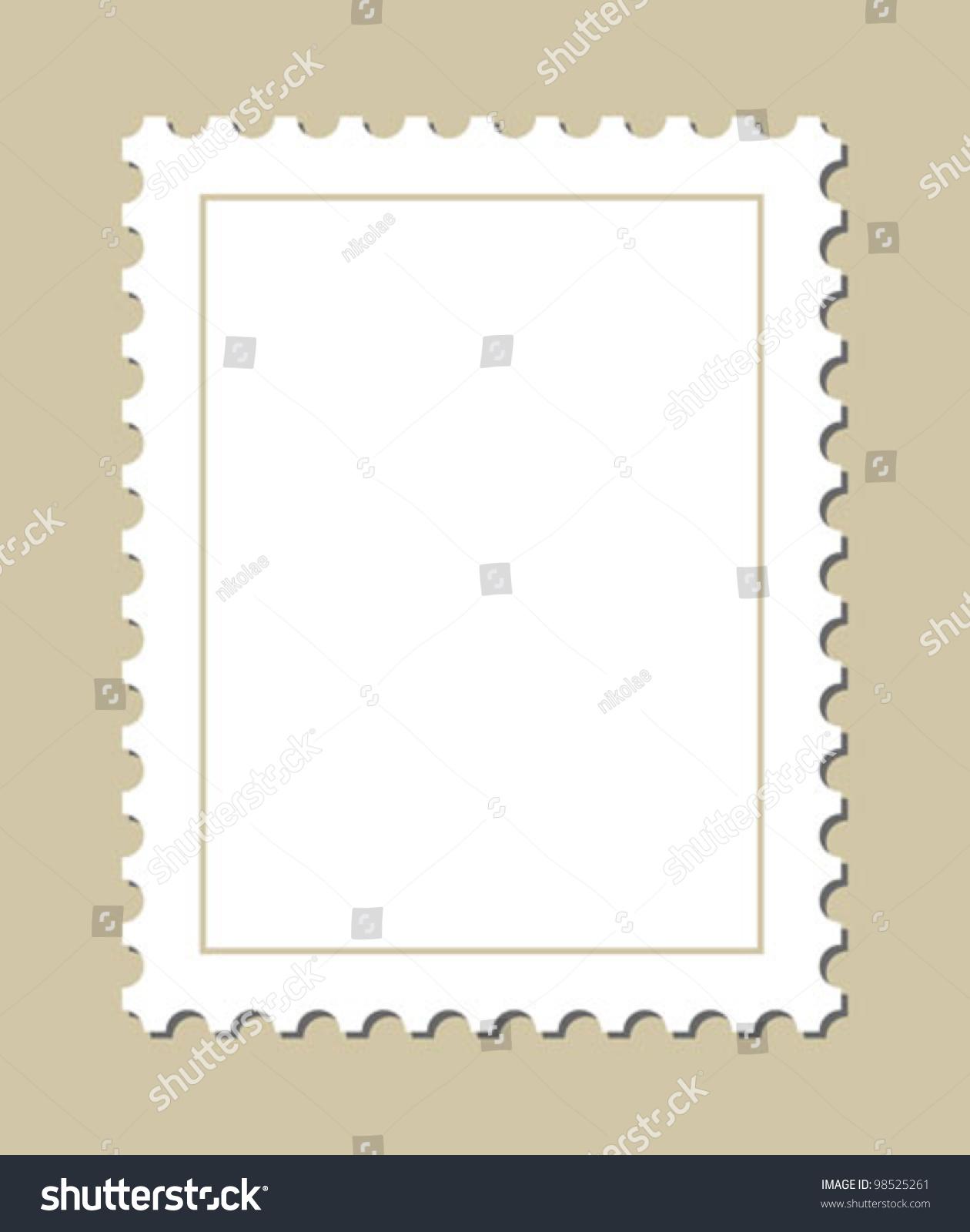 Blank Stamp Template Stock Vector 98525261 - Shutterstock