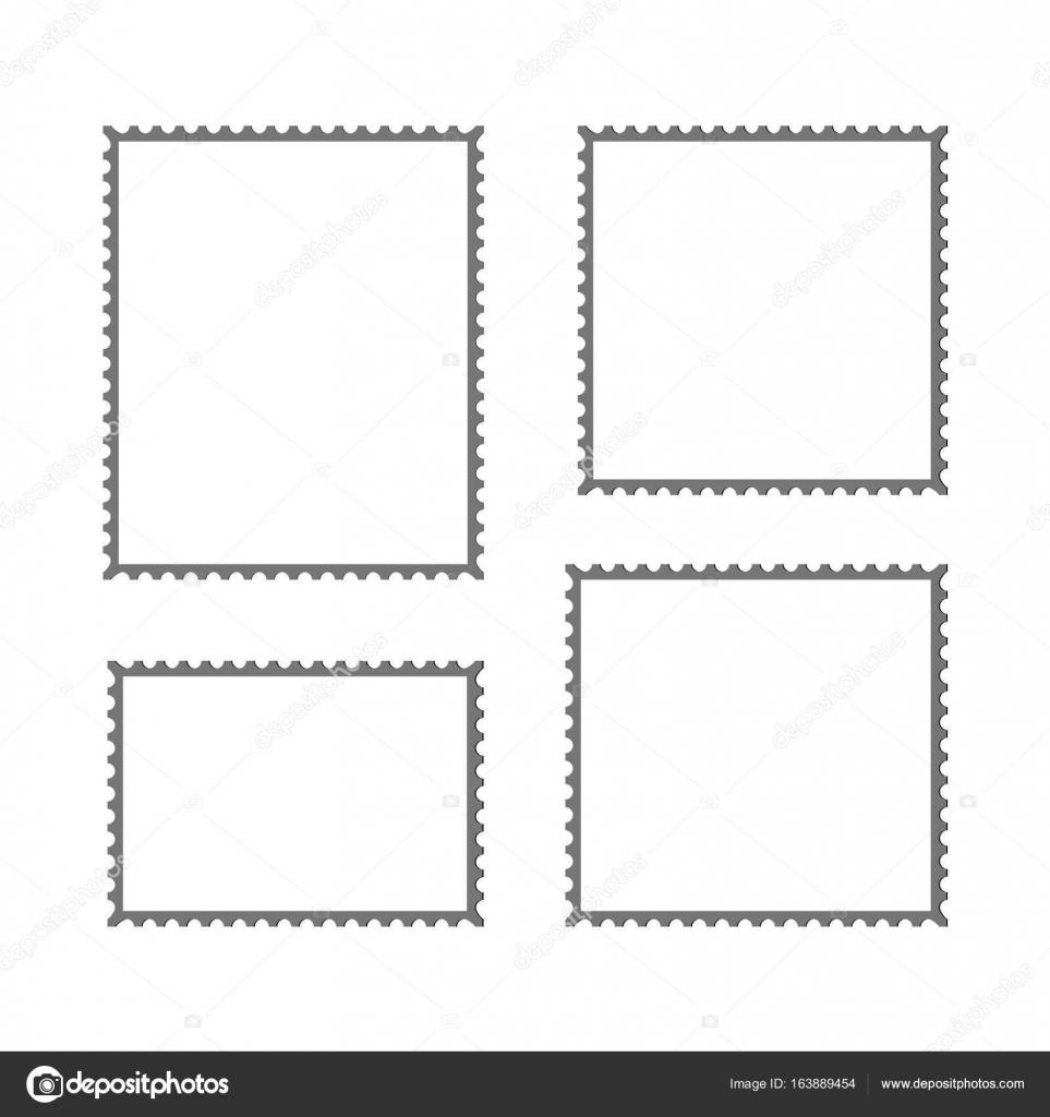 postage stamp vector blank mockup — Stock Vector © DeziDezi #163889454