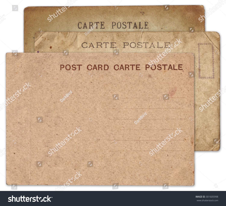 Blank vintage postcard photo