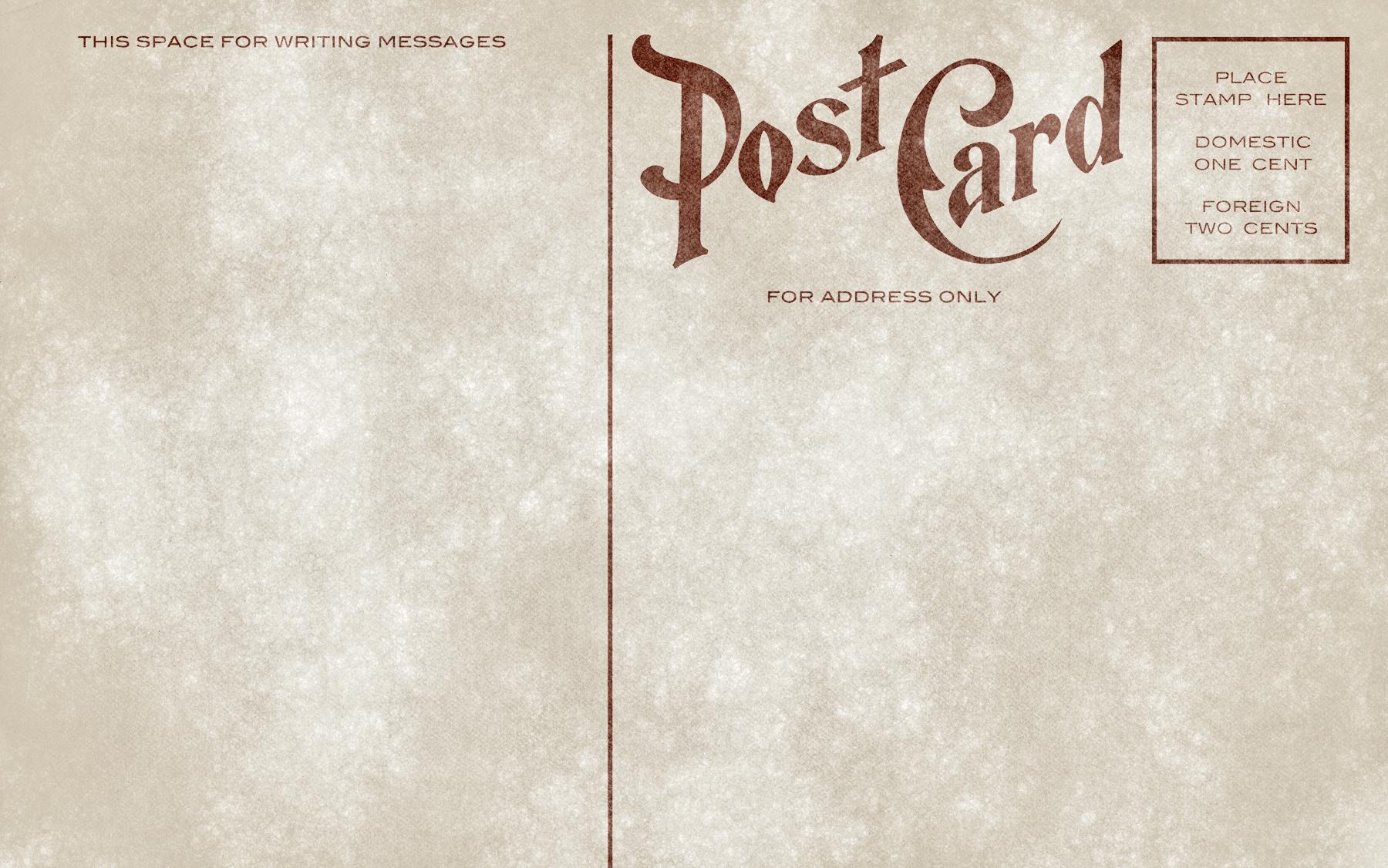 Blank vintage postcard - grunge edition photo