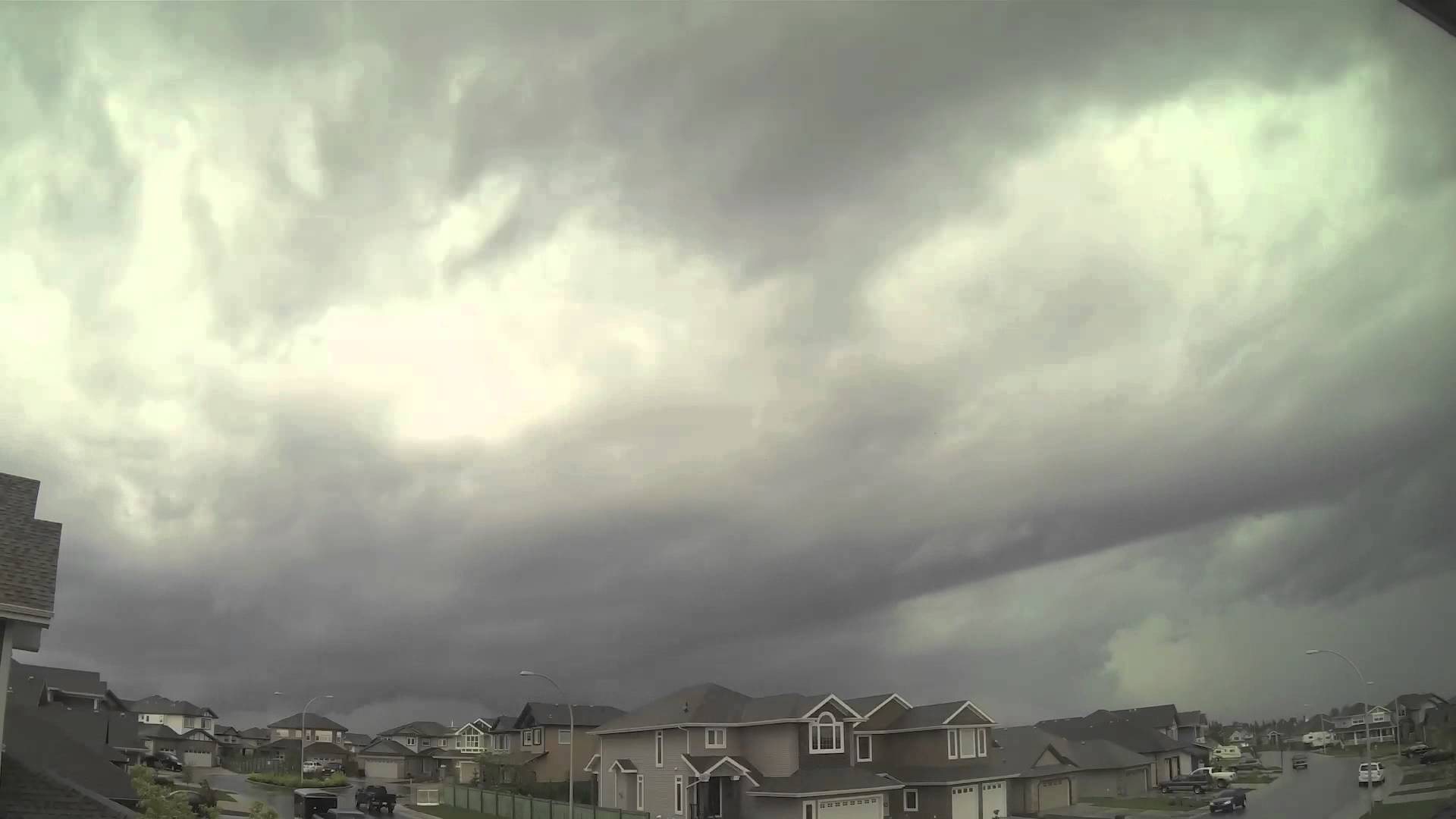 Stunning storm clouds blast through Sherwood Park - June 12 - YouTube