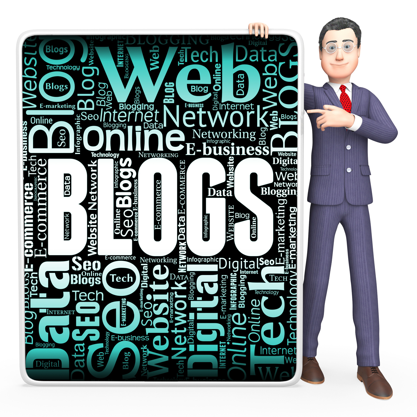 Blogs sign indicates web site and blogger photo