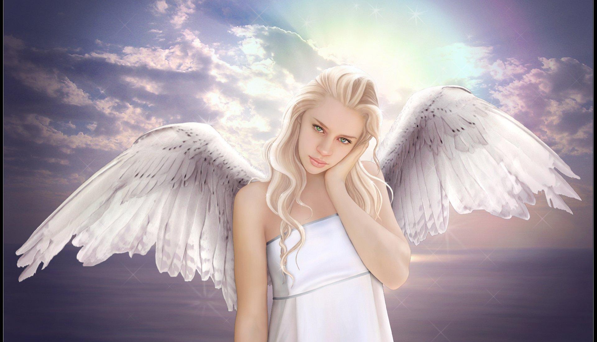 Blonde angel photo