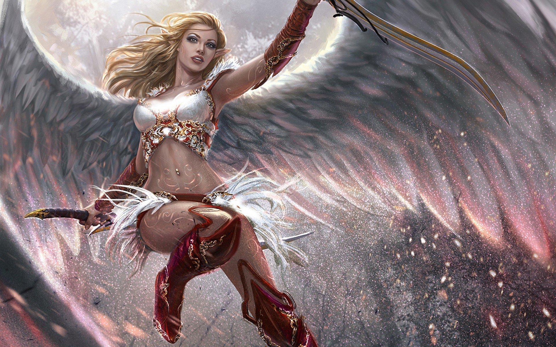 realistic, Wings, Blonde, Angel HD Wallpapers / Desktop and Mobile ...